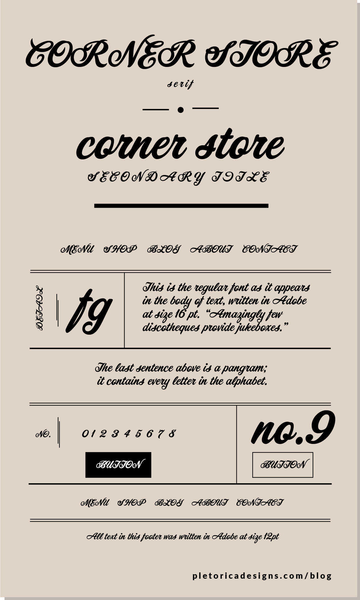 LET'S TYPE: Corner Store — PLETÓRICA DESIGNS