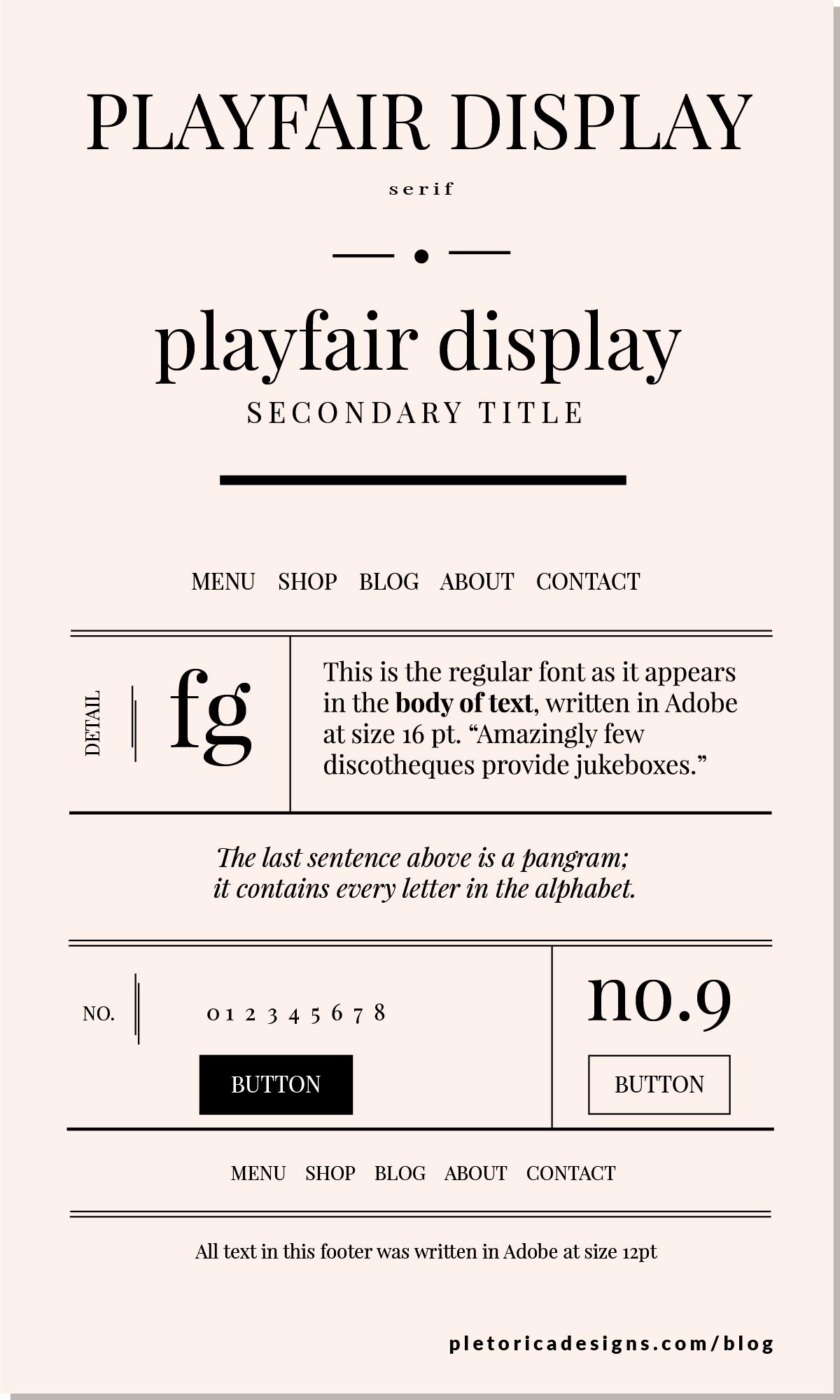 LET'S TYPE: Playfair Display — PLETÓRICA DESIGNS