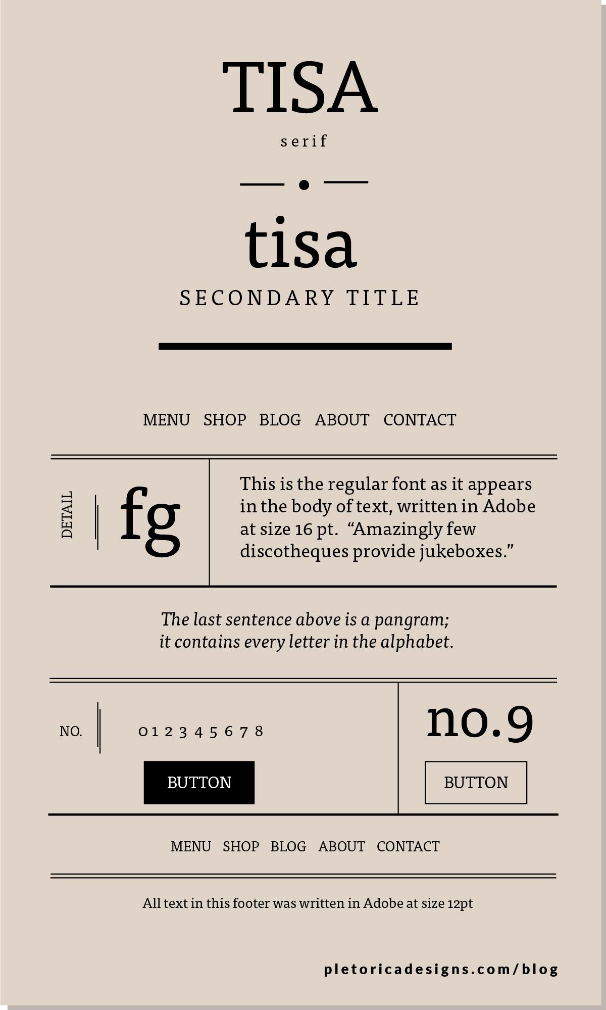LET'S TYPE: Tisa  — PLETÓRICA DESIGNS