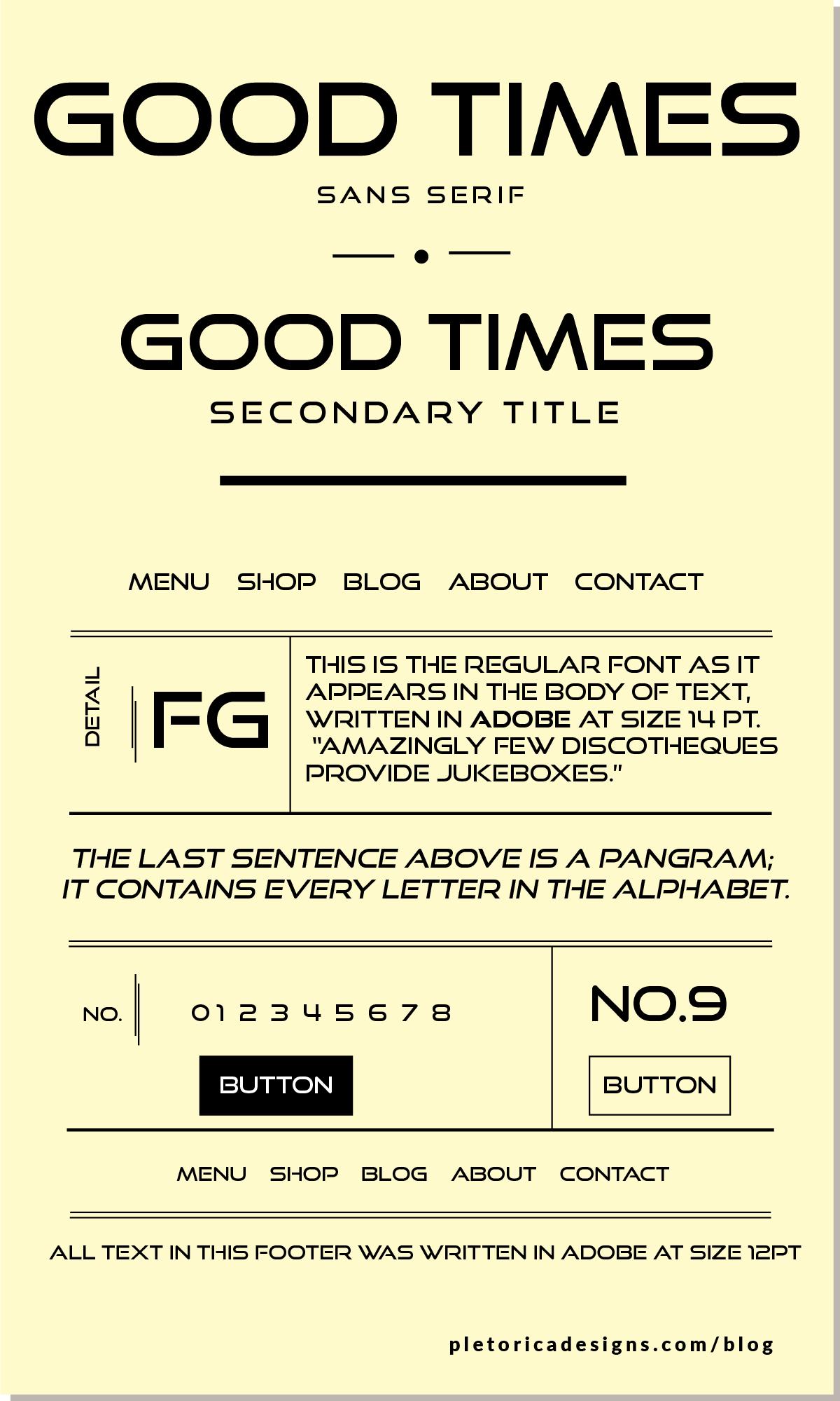 LET'S TYPE: Good Times — PLETÓRICA DESIGNS