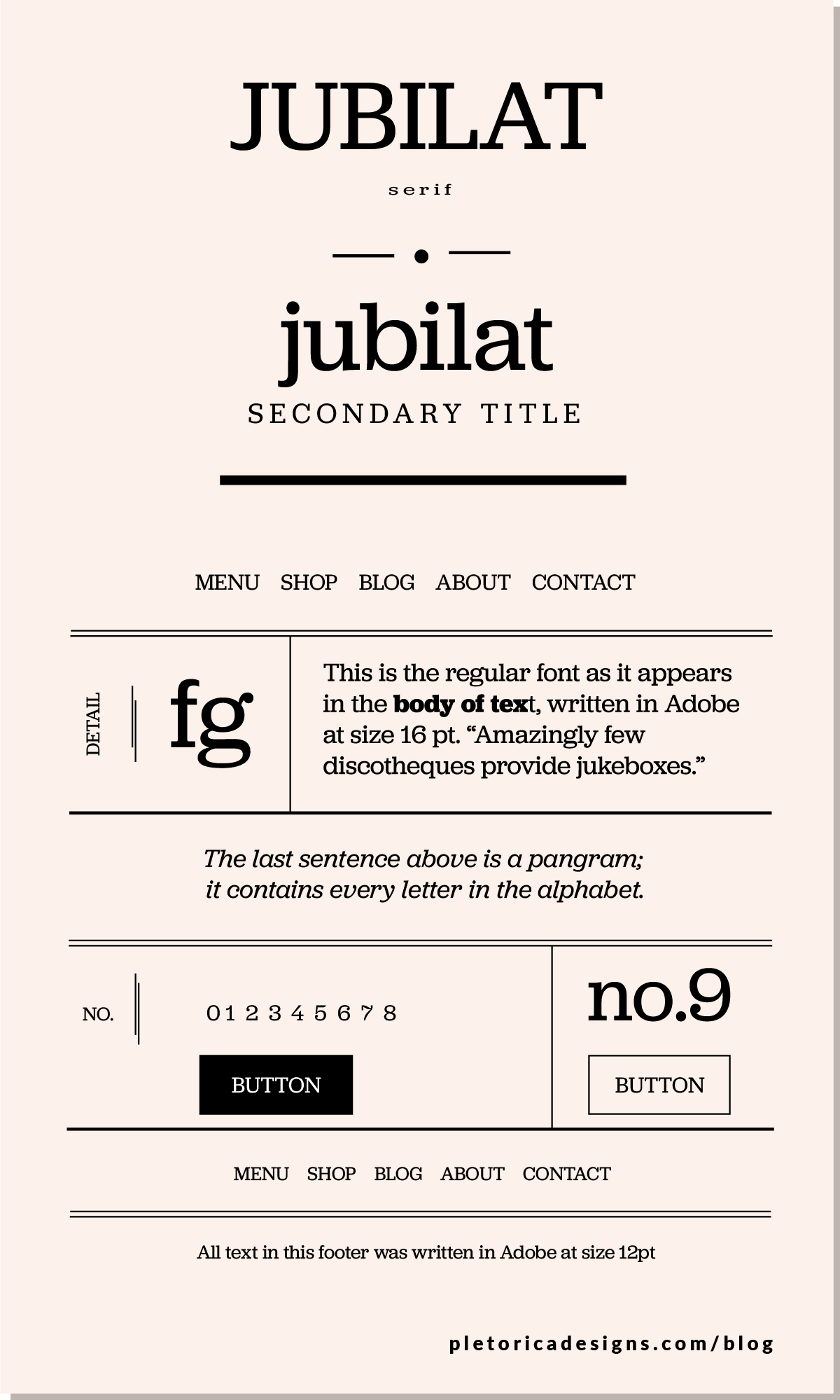 LET'S TYPE: Jubilat — PLETÓRICA DESIGNS