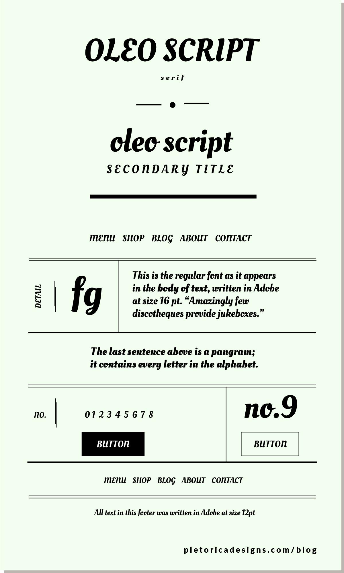 LET'S TYPE: Oleo Script — PLETÓRICA DESIGNS