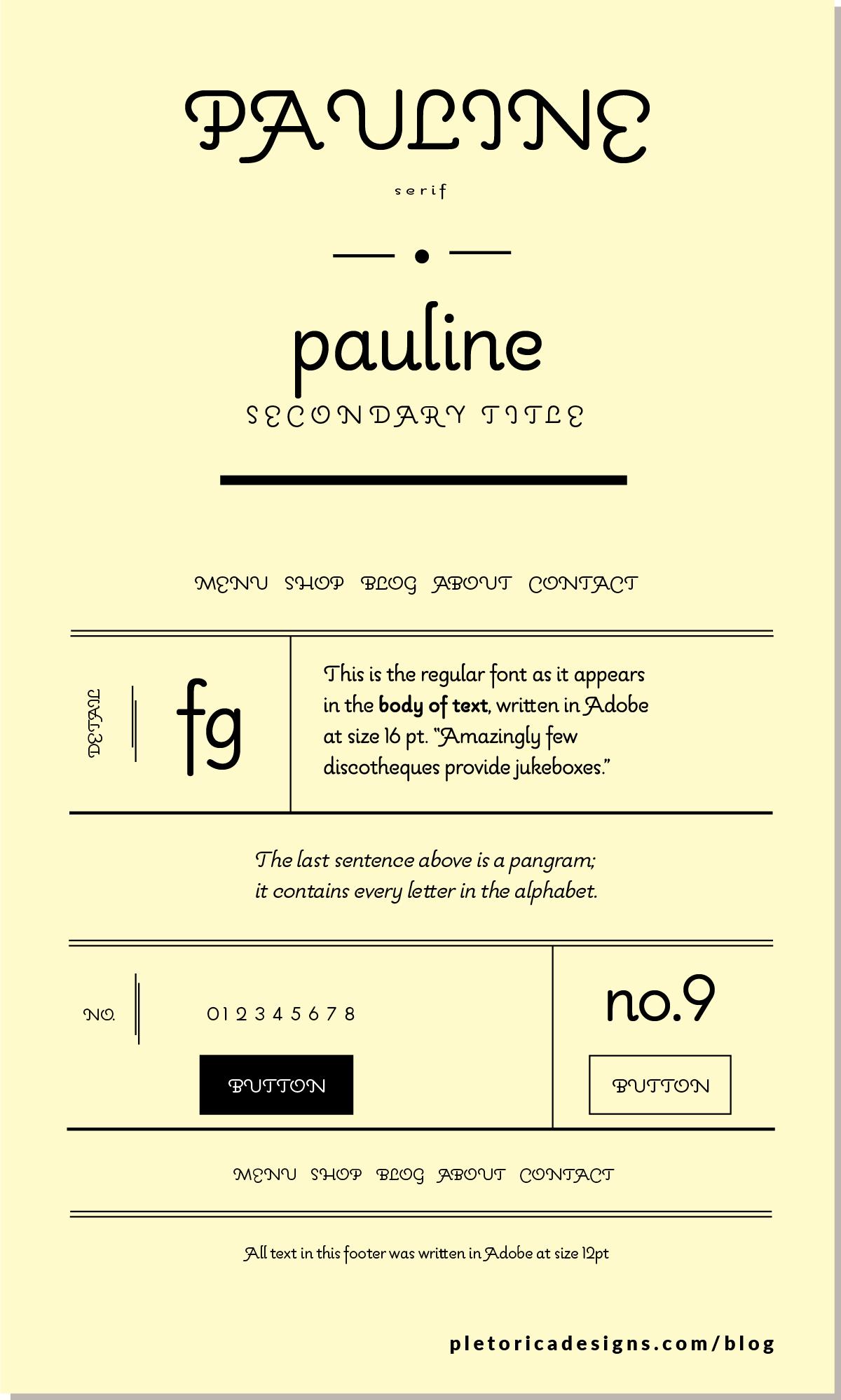 LET'S TYPE: Pauline — PLETÓRICA DESIGNS