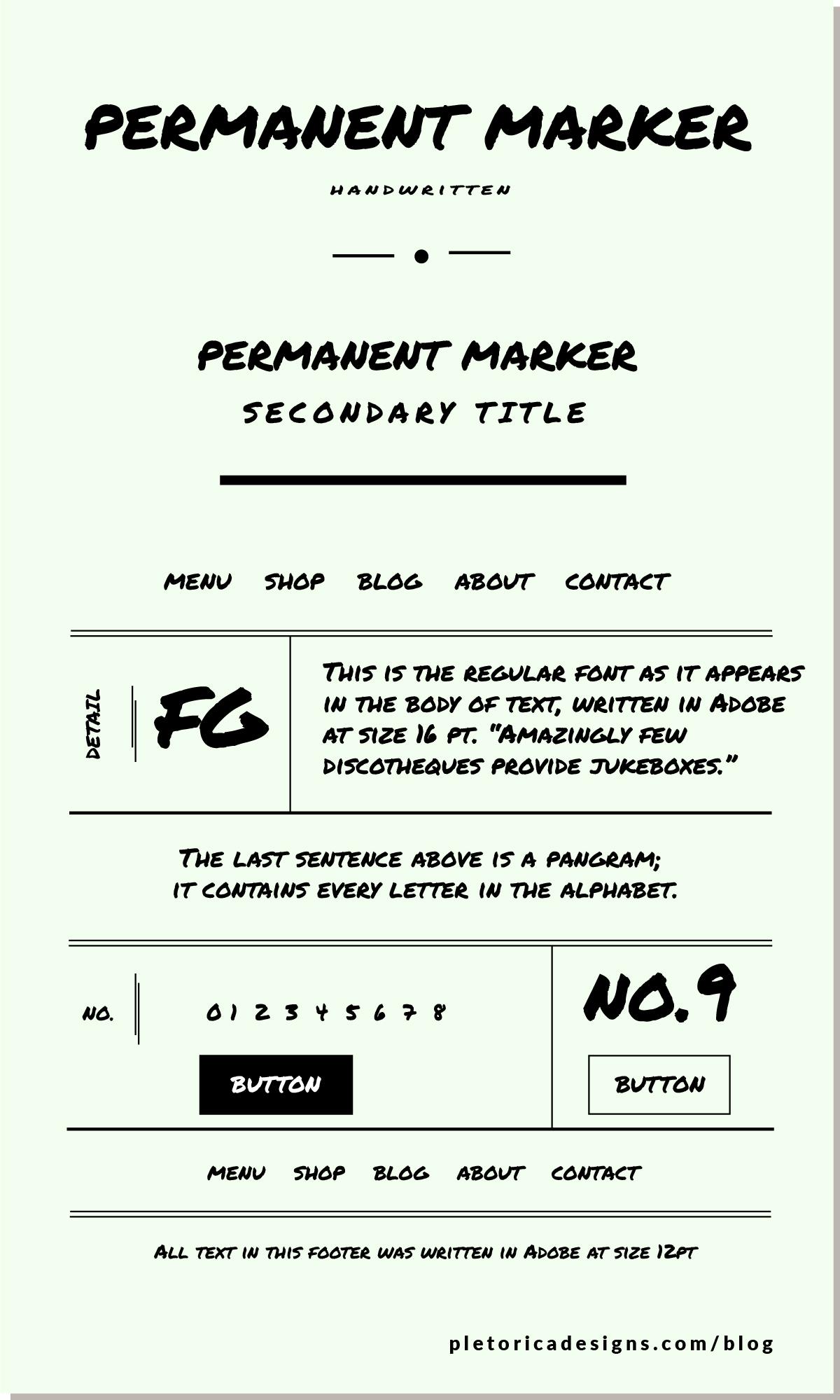 LET'S TYPE: Permanent Marker — PLETÓRICA DESIGNS