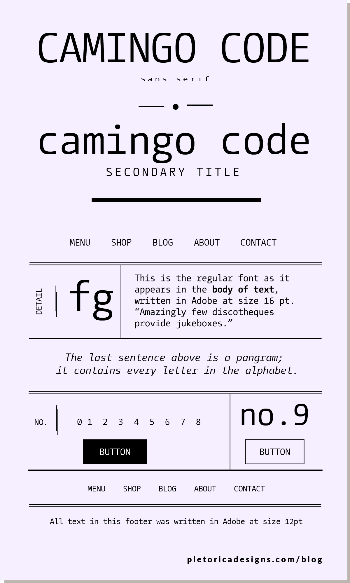 LET'S TYPE: Camingo — PLETÓRICA DESIGNS