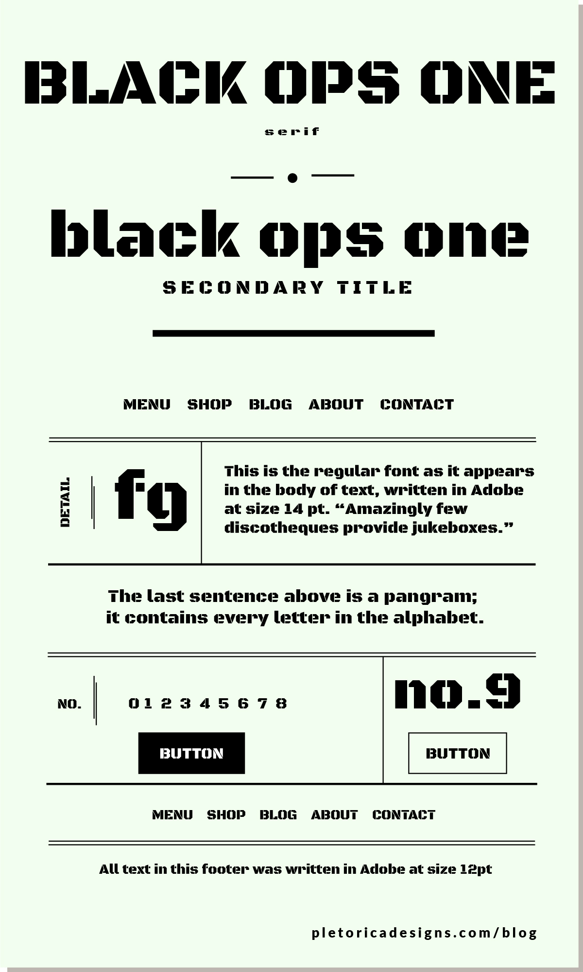 LET'S TYPE: Black Ops One — PLETÓRICA DESIGNS