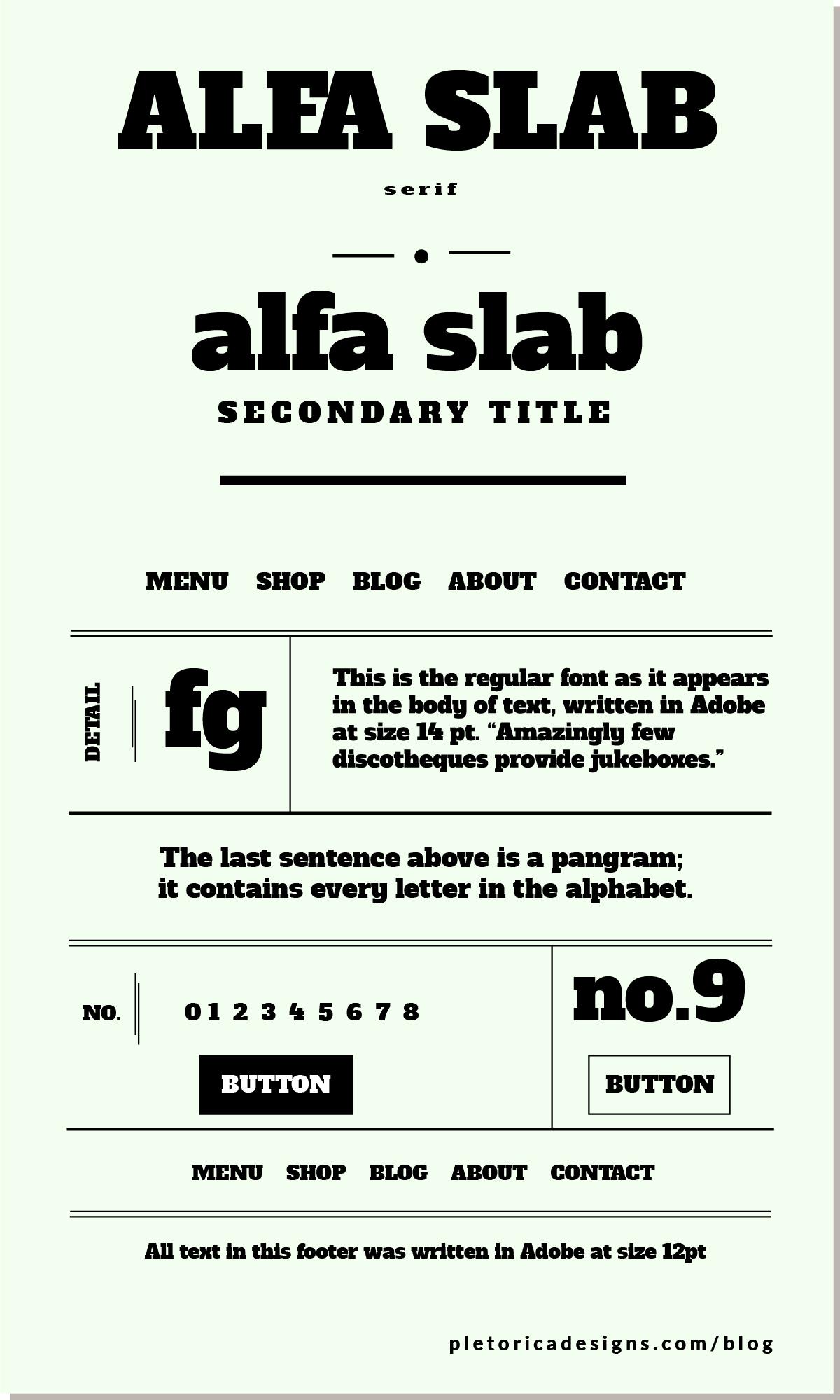 LET'S TYPE: Alfa Slab — PLETÓRICA DESIGNS