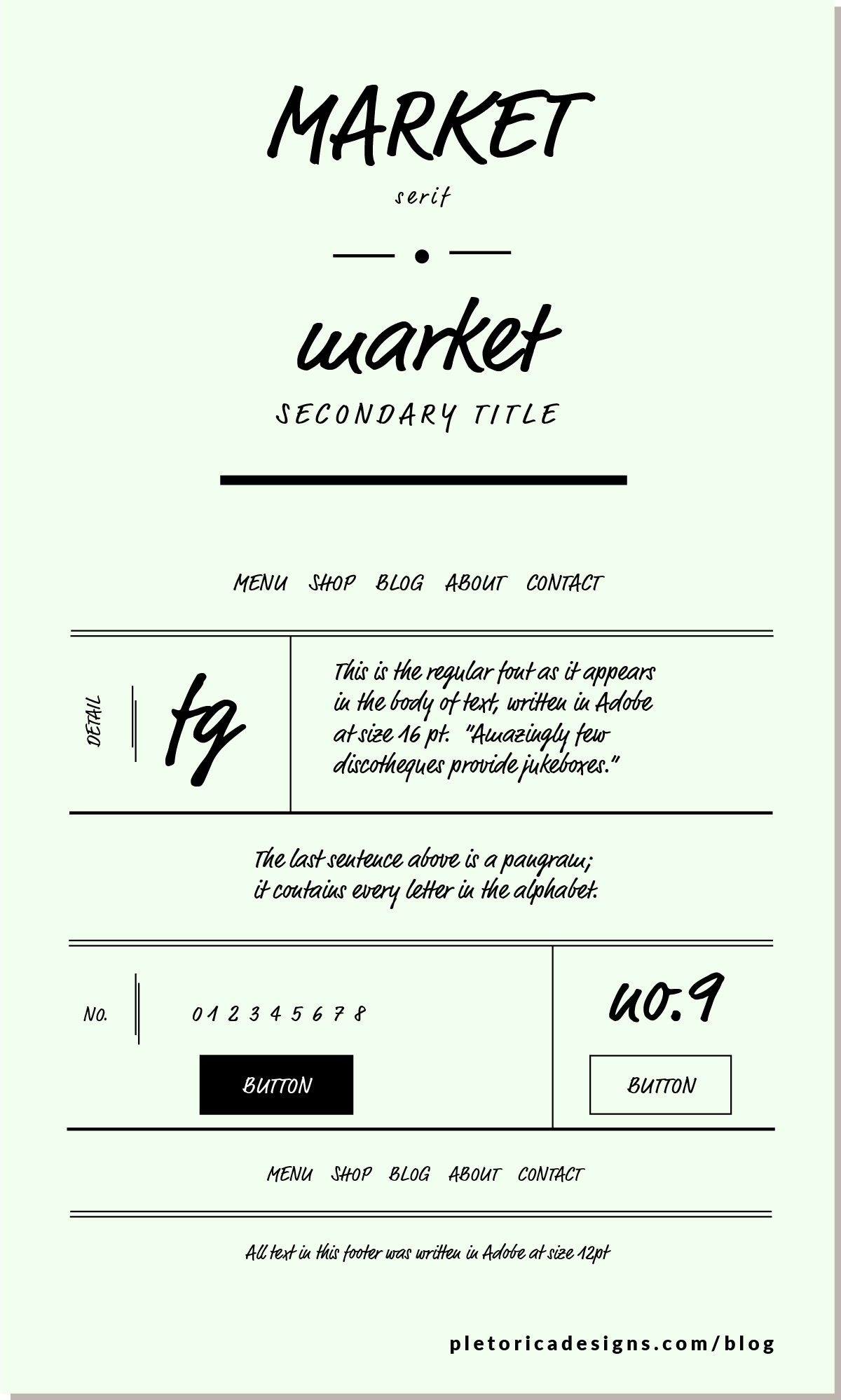 LET'S TYPE: Market — PLETÓRICA DESIGNS