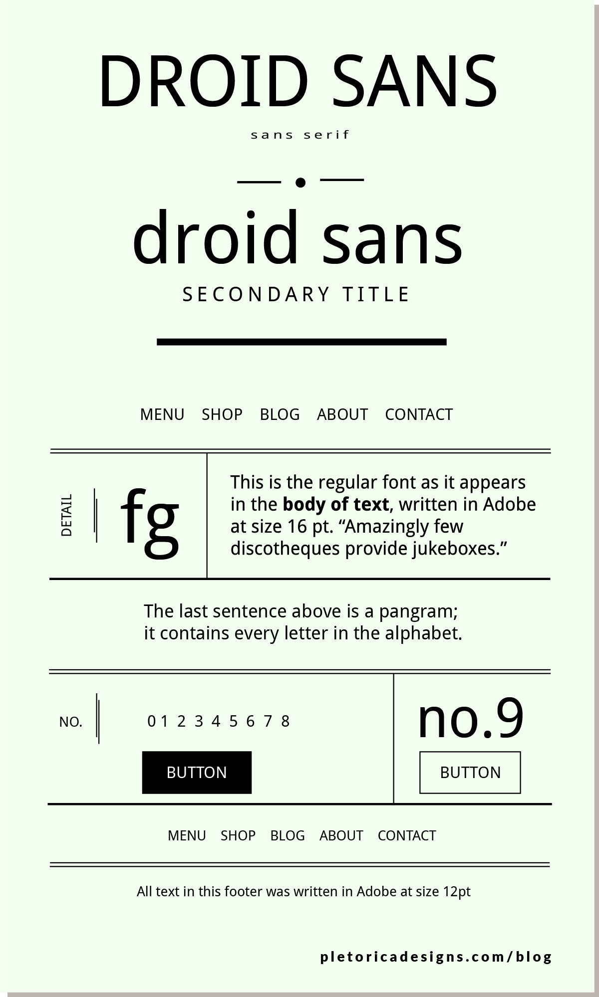LET'S TYPE: Droid Sans — PLETÓRICA DESIGNS