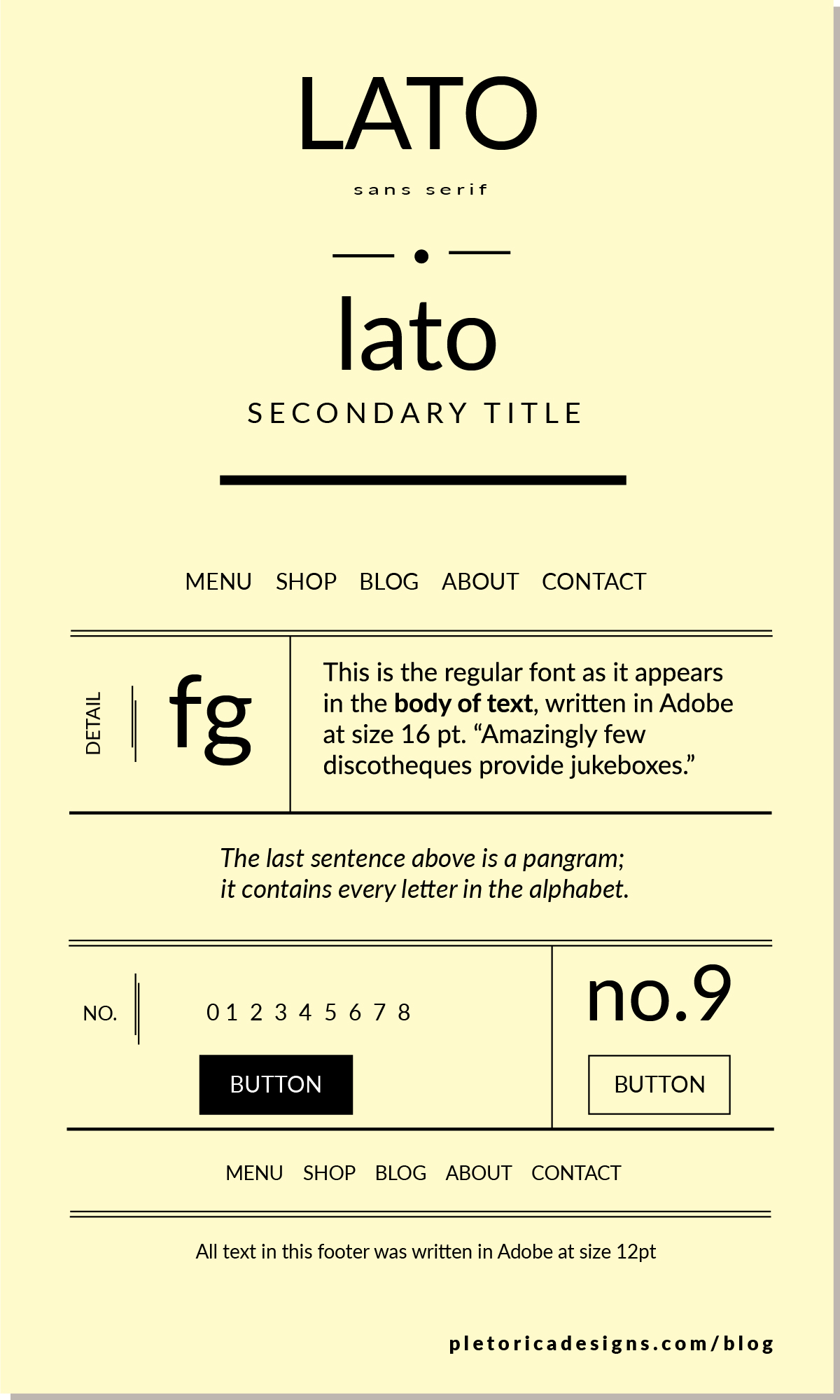 LET'S TYPE: Lato — PLETÓRICA DESIGNS