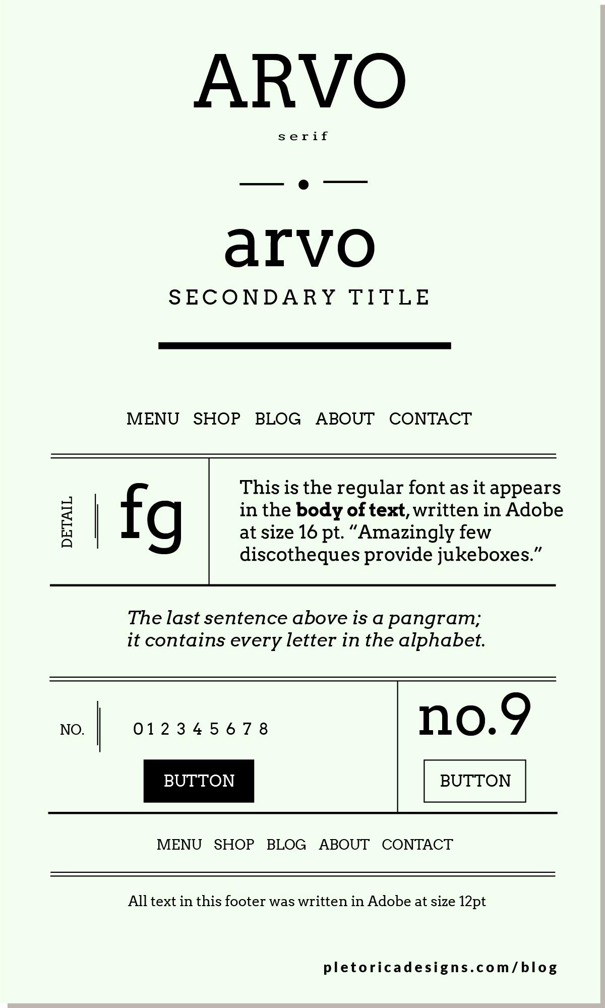 LET'S TYPE: Arvo — PLETÓRICA DESIGNS