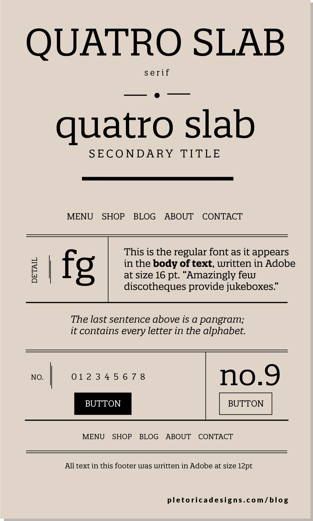 LET'S TYPE: Quatro Slab — PLETÓRICA DESIGNS