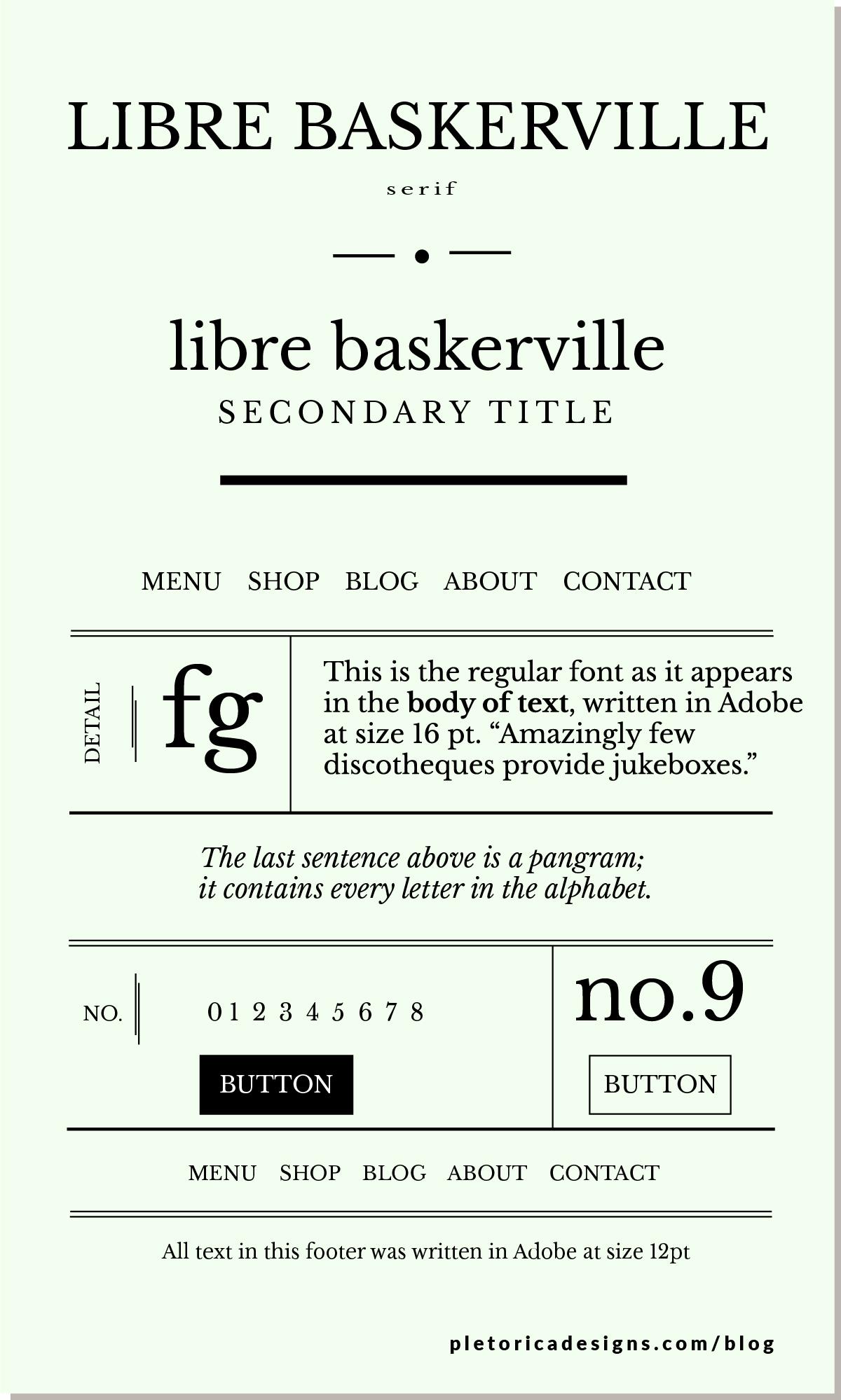 LET'S TYPE: Libre Baskerville — PLETÓRICA DESIGNS