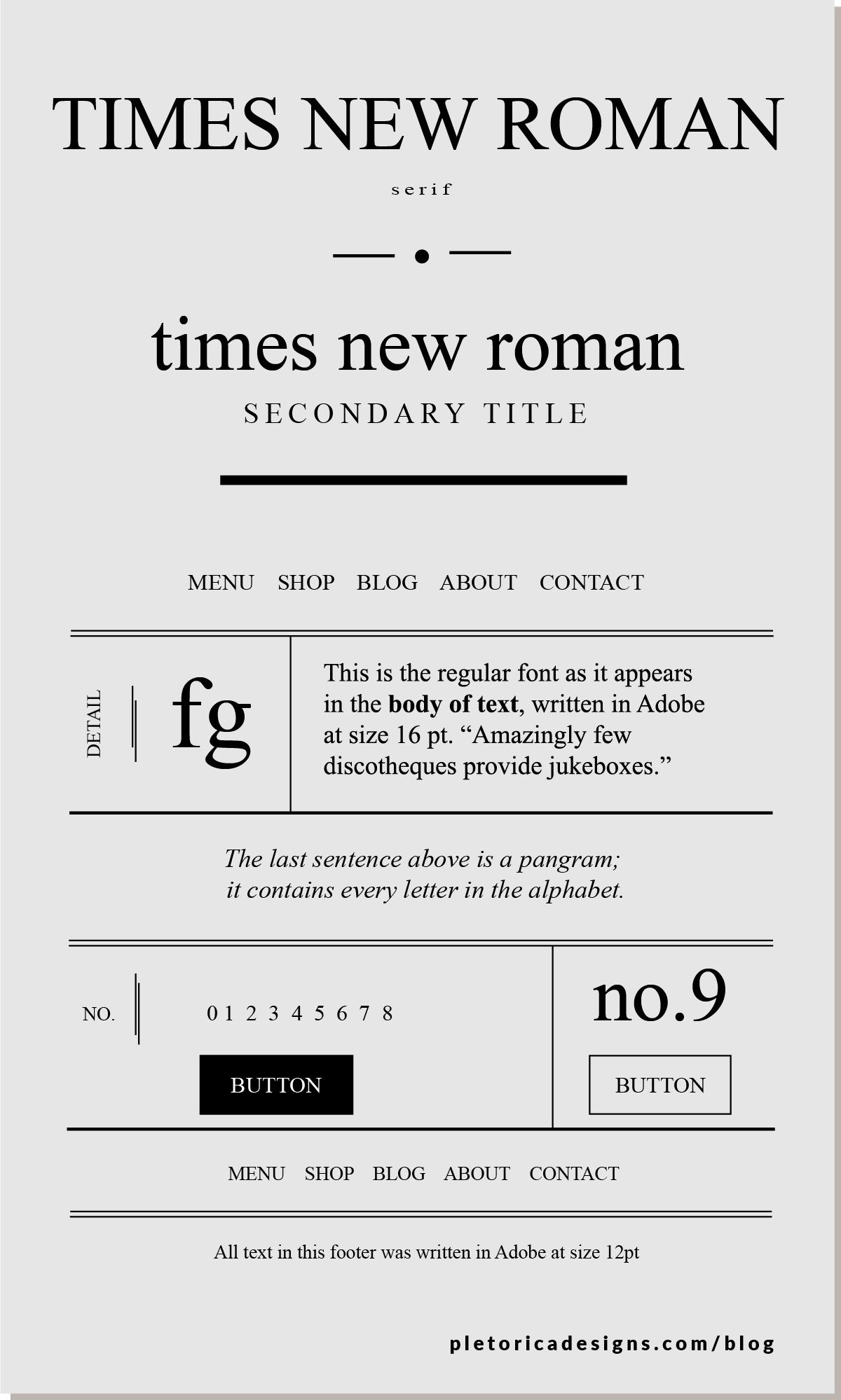 LET'S TYPE: Times New Roman — PLETÓRICA DESIGNS