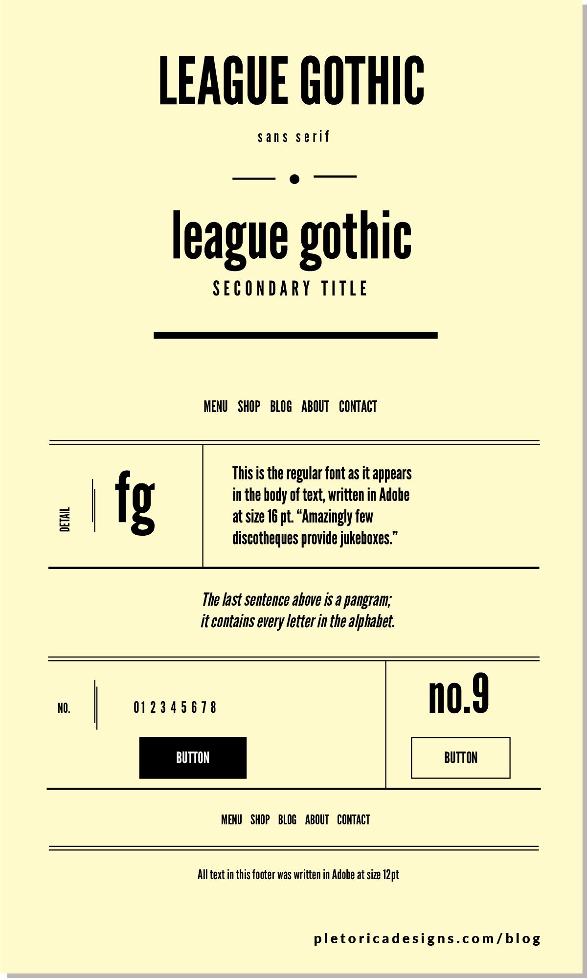 LET'S TYPE: League Gothic — PLETÓRICA DESIGNS