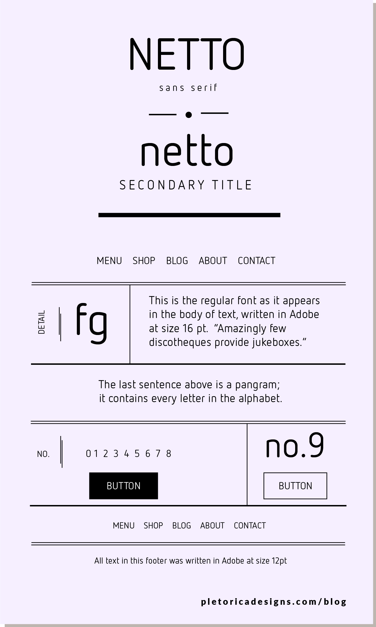 LET'S TYPE: Netto — PLETÓRICA DESIGNS