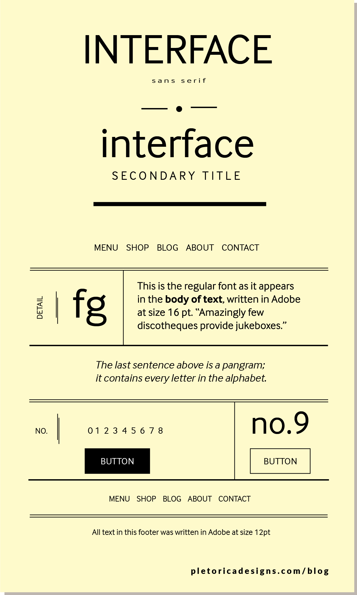 LET'S TYPE: Interface — PLETÓRICA DESIGNS