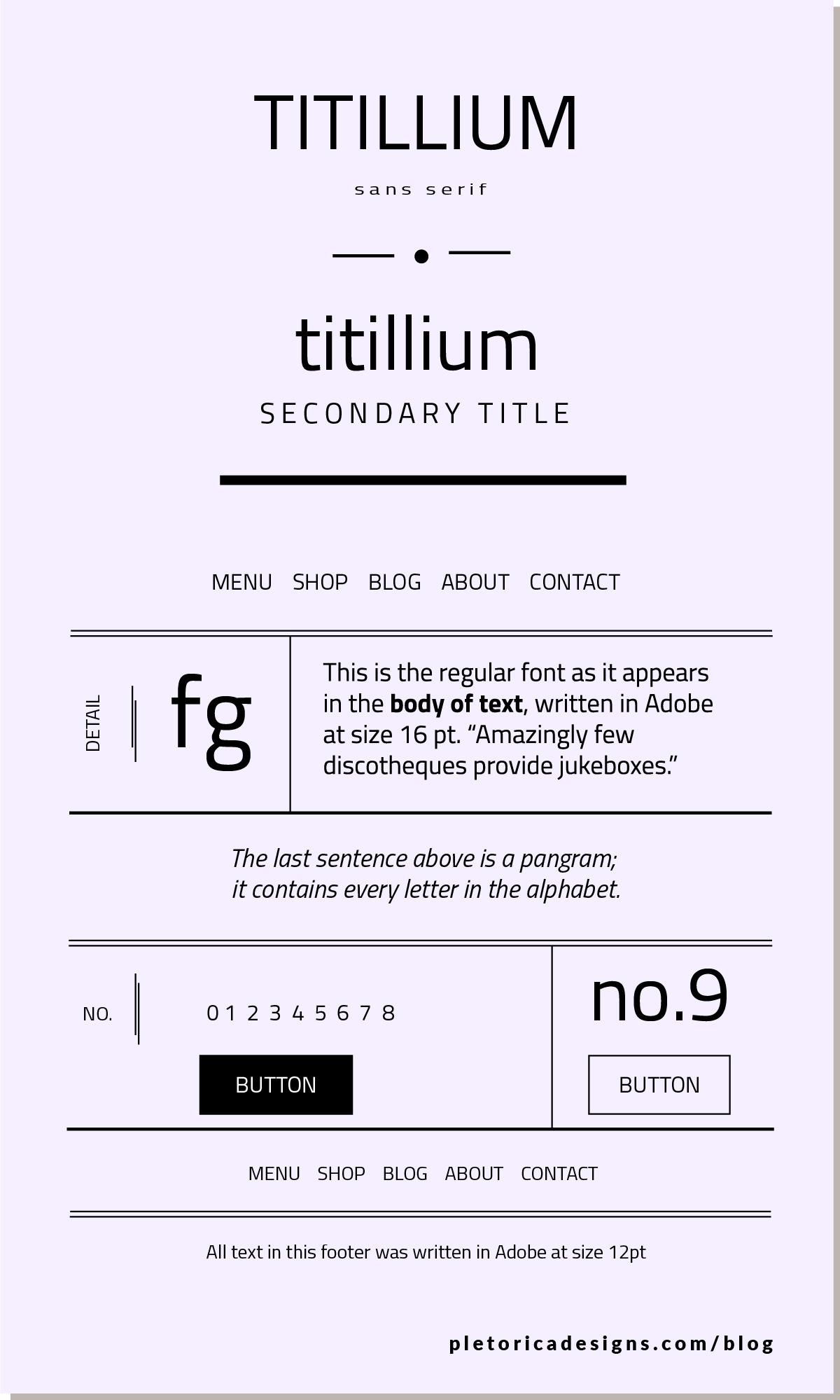 LET'S TYPE: Titillium — PLETÓRICA DESIGNS