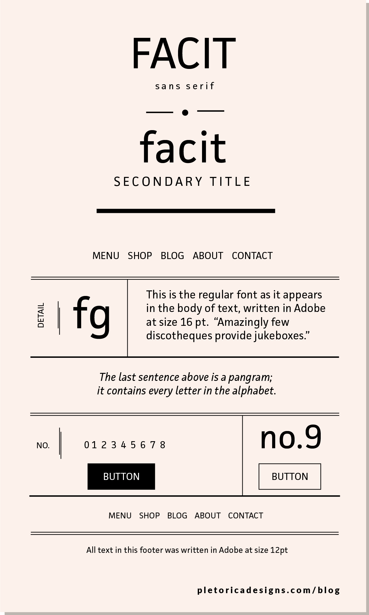 LET'S TYPE: JAF Facit — PLETÓRICA DESIGNS