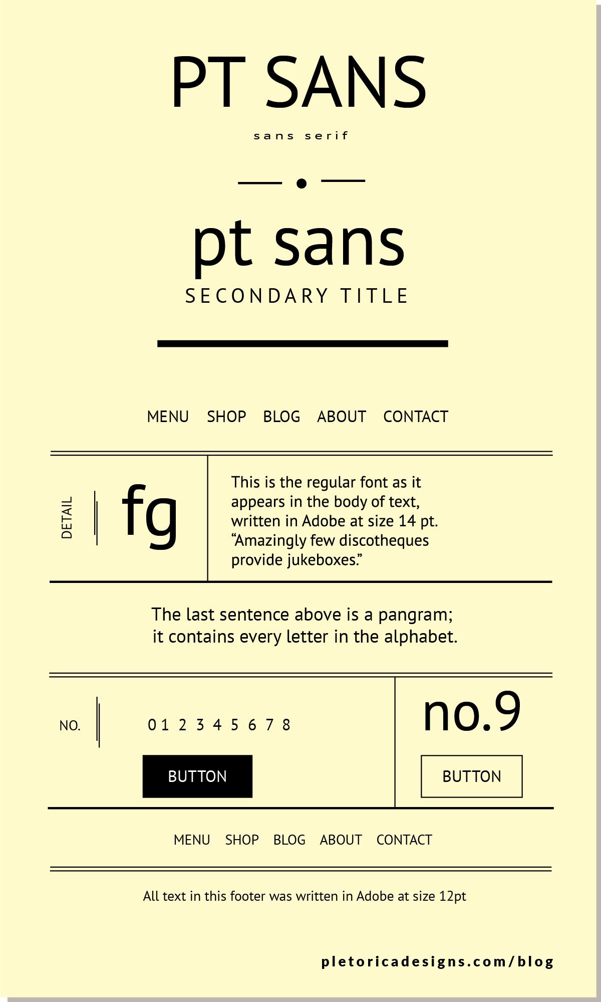 LET'S TYPE: PT Sans — PLETÓRICA DESIGNS