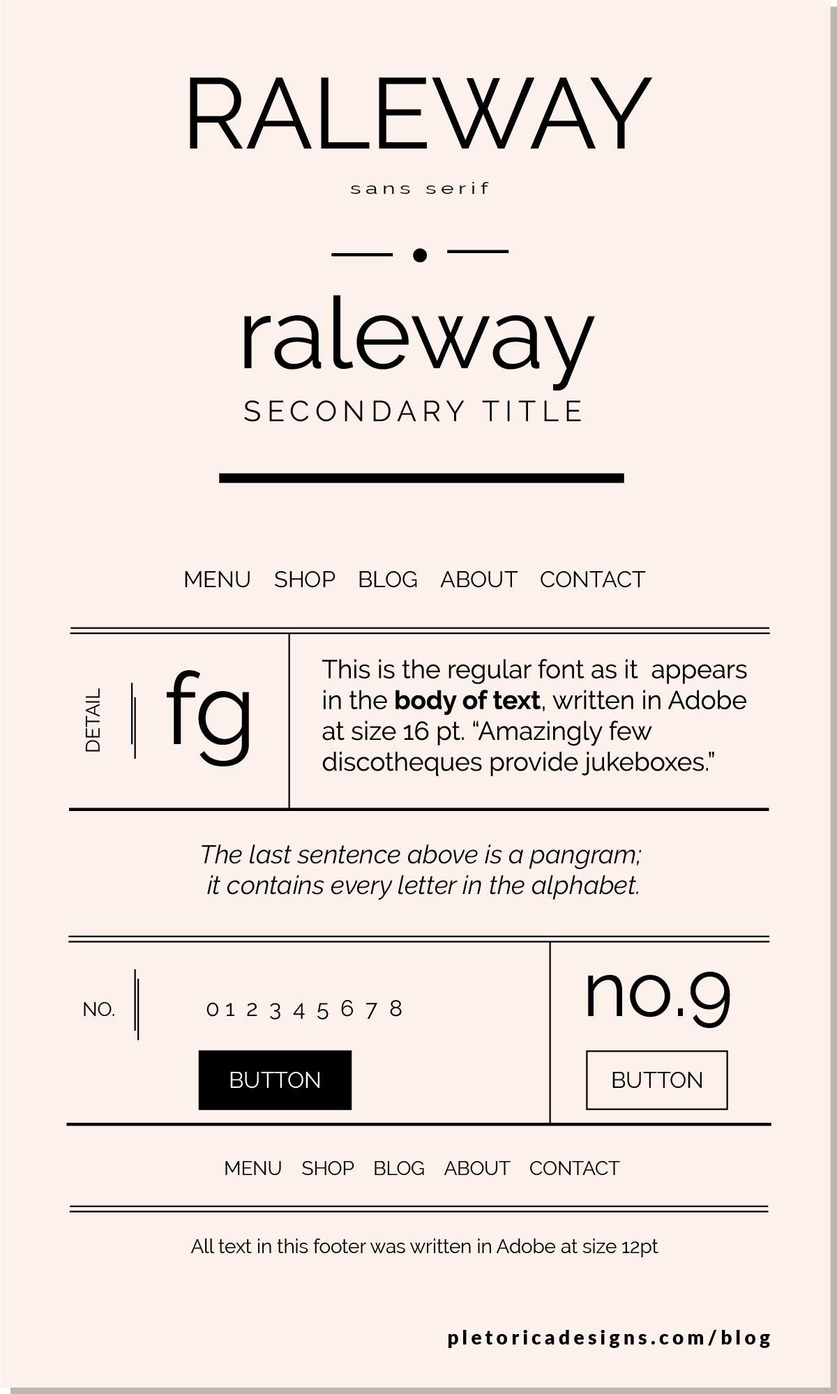 LET'S TYPE: Raleway — PLETÓRICA DESIGNS