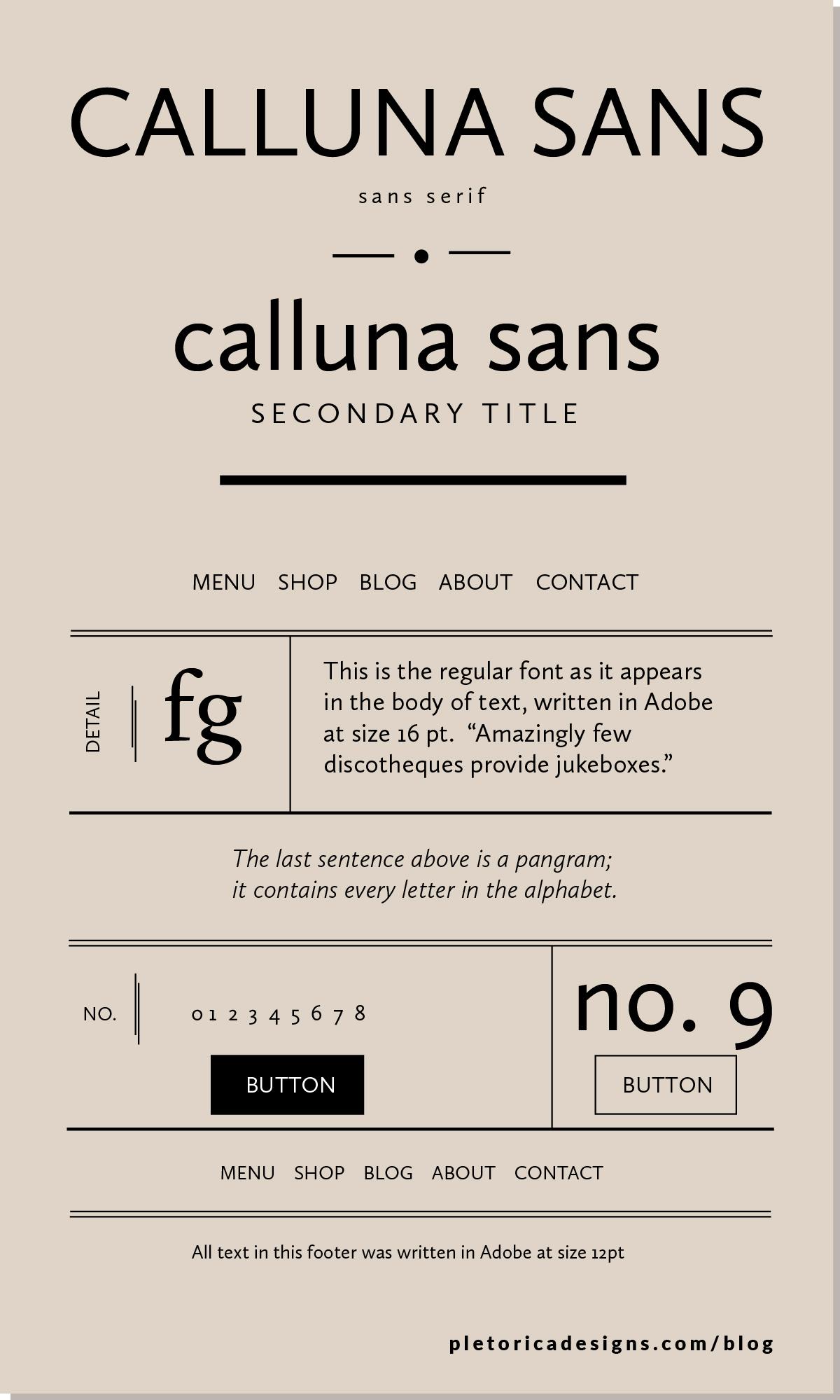 LET'S TYPE: Calluna Sans — PLETÓRICA DESIGNS