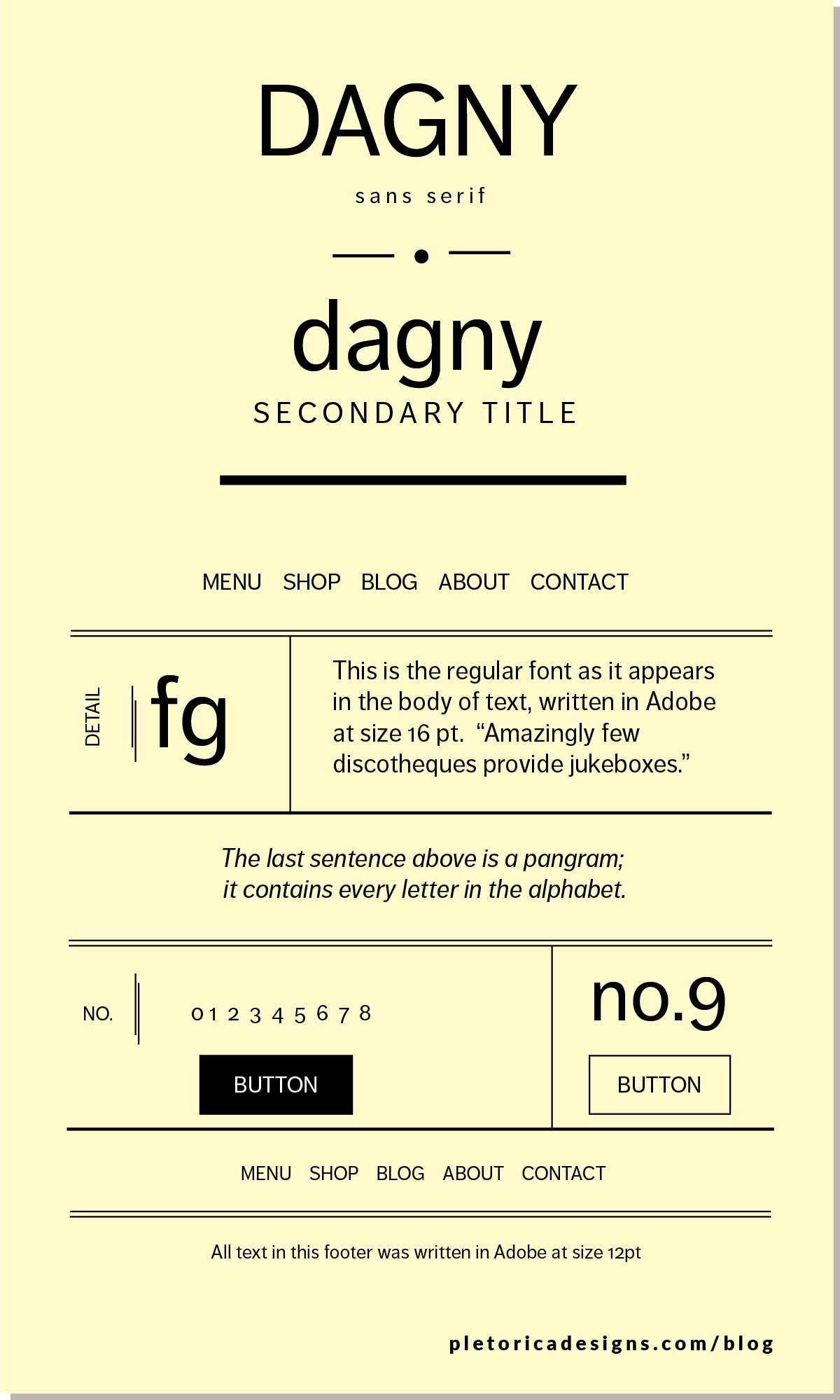 LET'S TYPE: Dagny — PLETÓRICA DESIGNS
