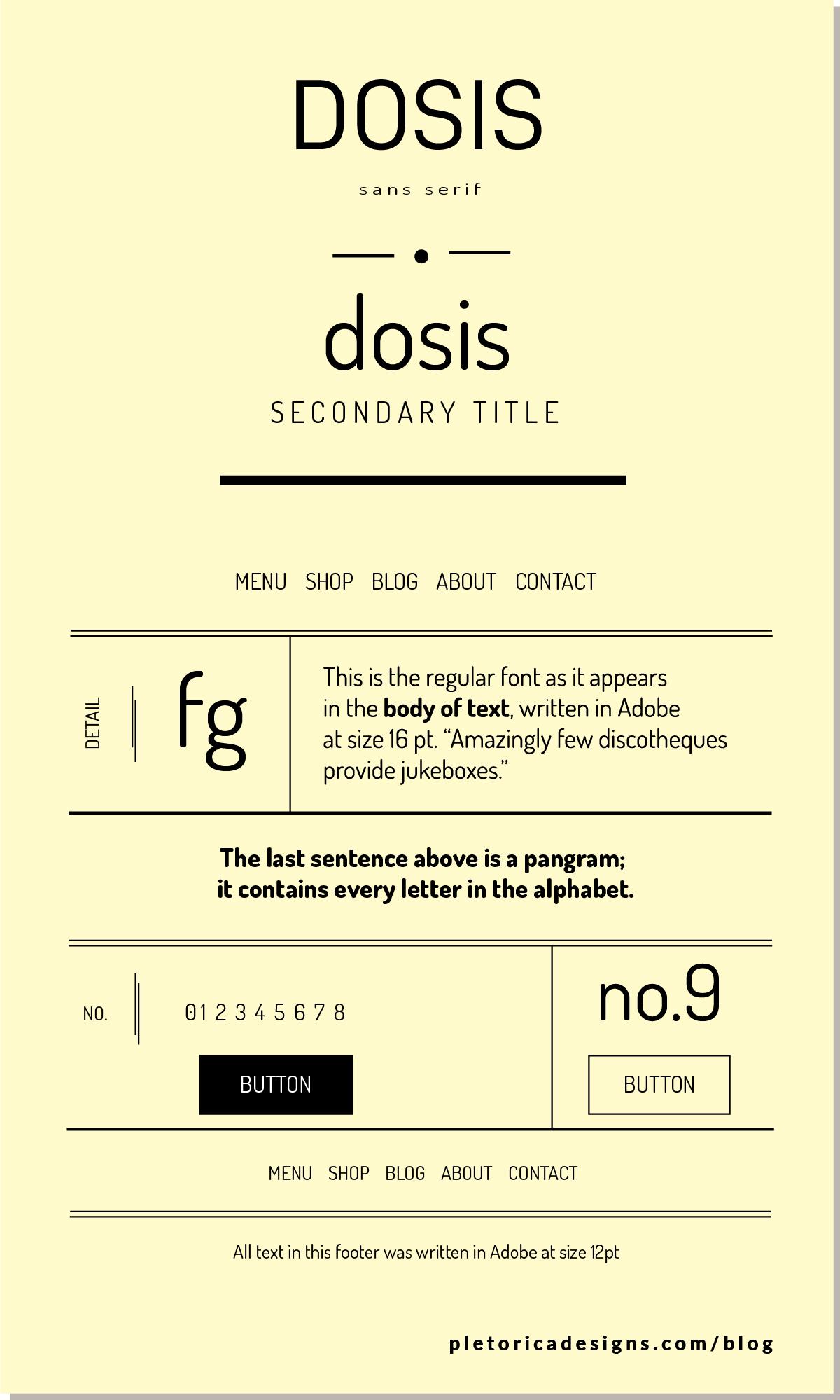 LET'S TYPE: Dosis — PLETÓRICA DESIGNS