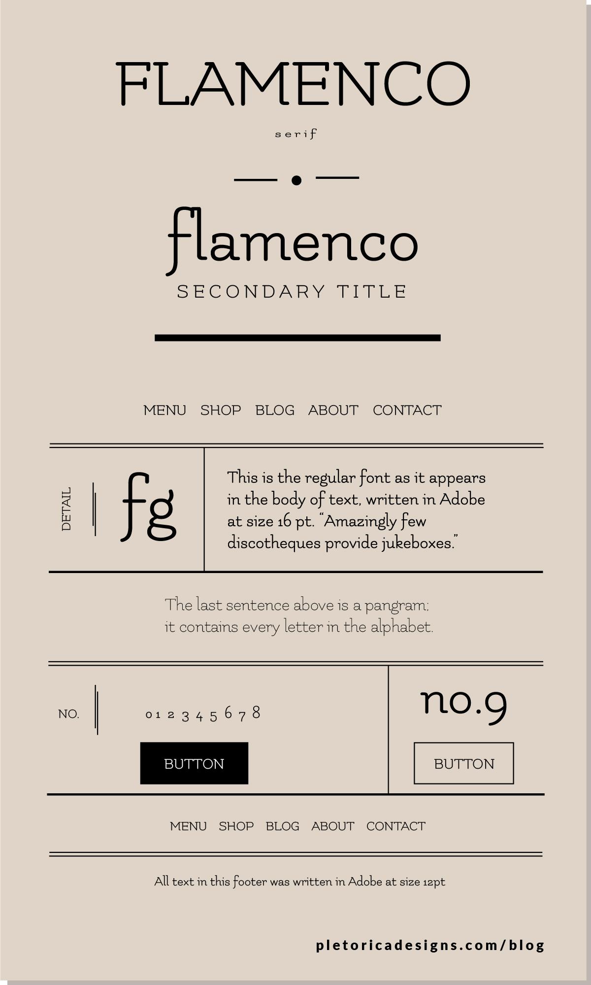 LET'S TYPE: Flamenco — PLETÓRICA DESIGNS