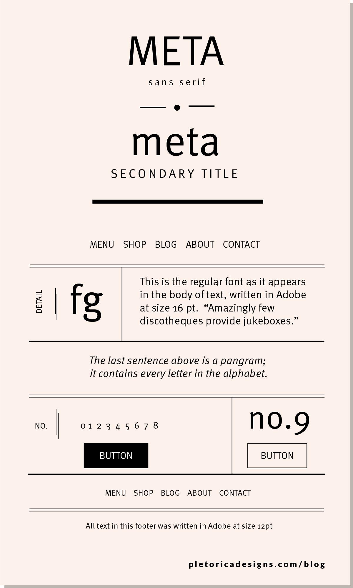 LET'S TYPE: Meta — PLETÓRICA DESIGNS