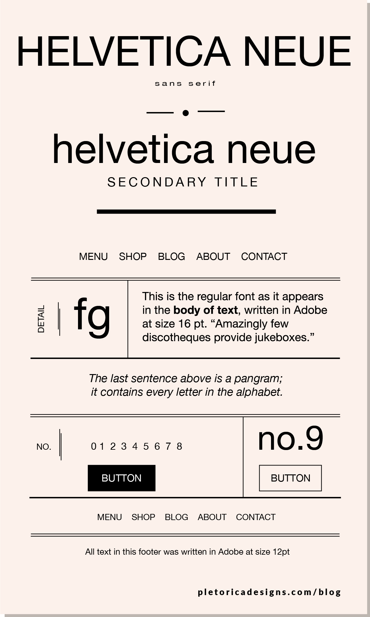 LET'S TYPE: Helvetica Neue — PLETÓRICA DESIGNS