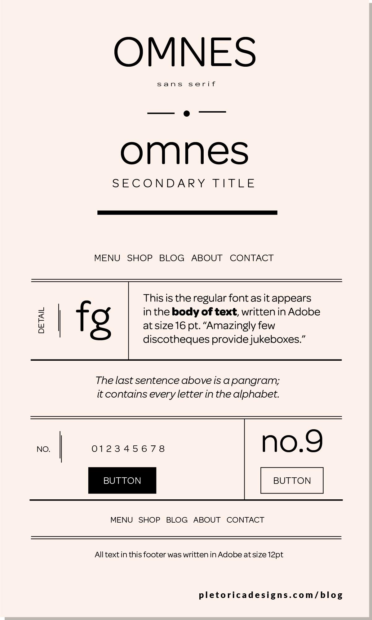 LET'S TYPE: Omnes — PLETÓRICA DESIGNS