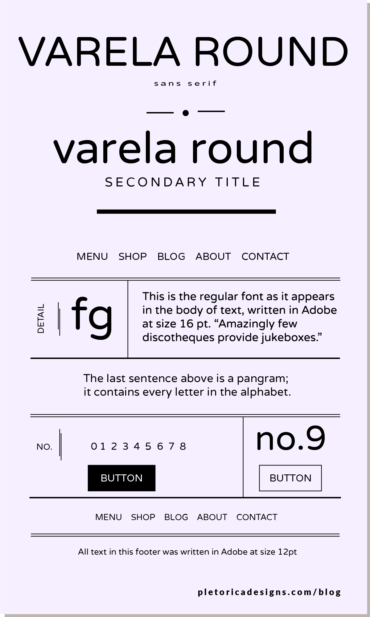 LET'S TYPE: Varela Round — PLETÓRICA DESIGNS