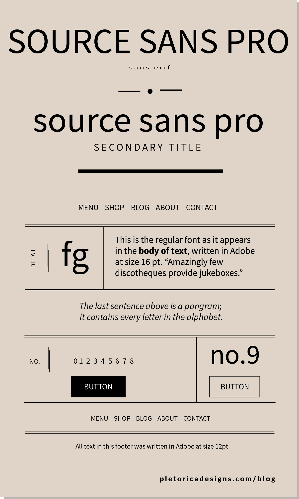 LET'S TYPE: Source Sans Pro — PLETÓRICA DESIGNS