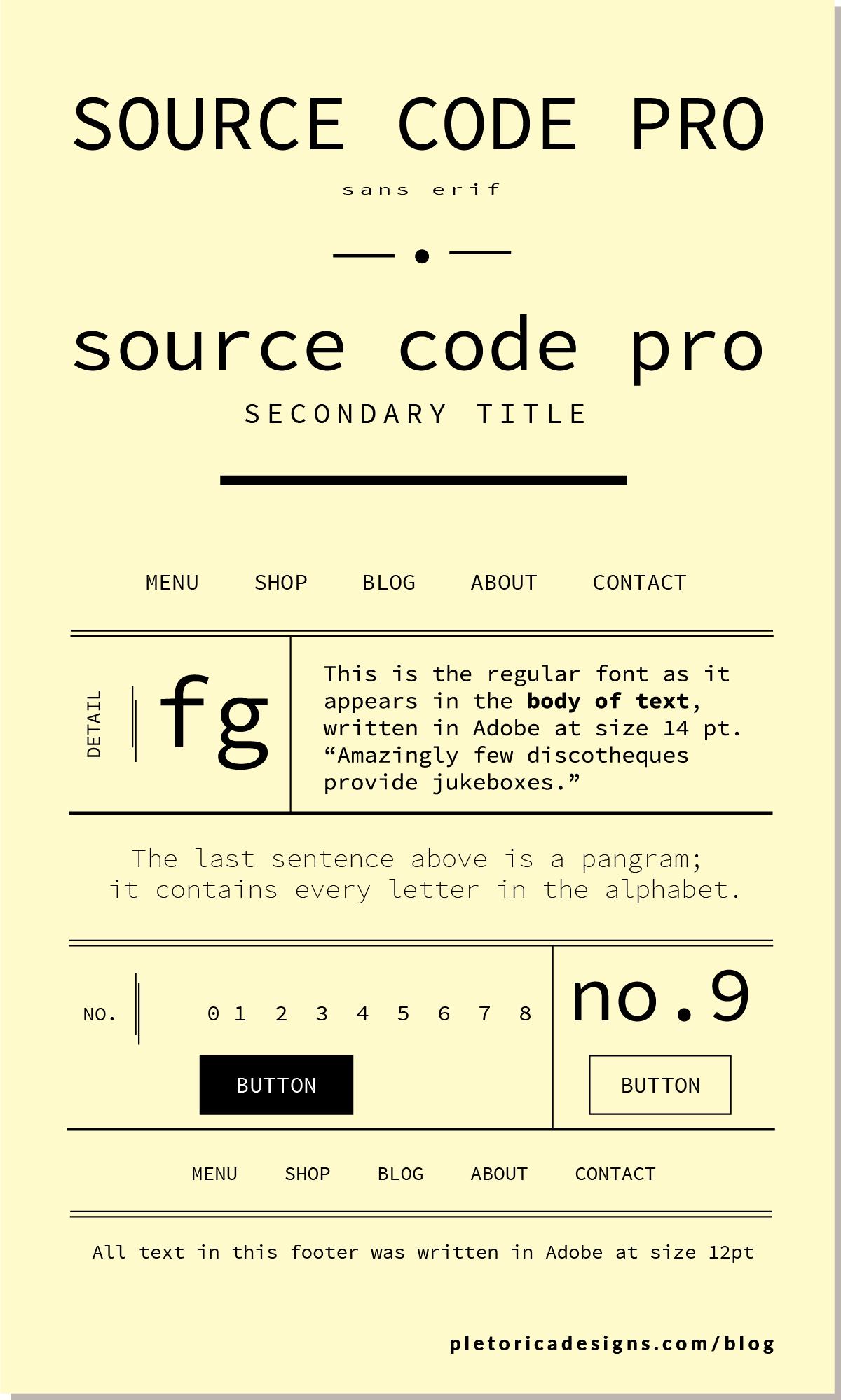 LET'S TYPE: Source Code Pro — PLETÓRICA DESIGNS