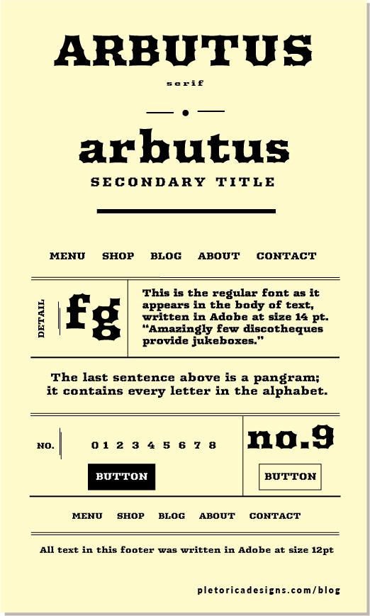 LET'S TYPE: Arbutus — PLETÓRICA DESIGNS