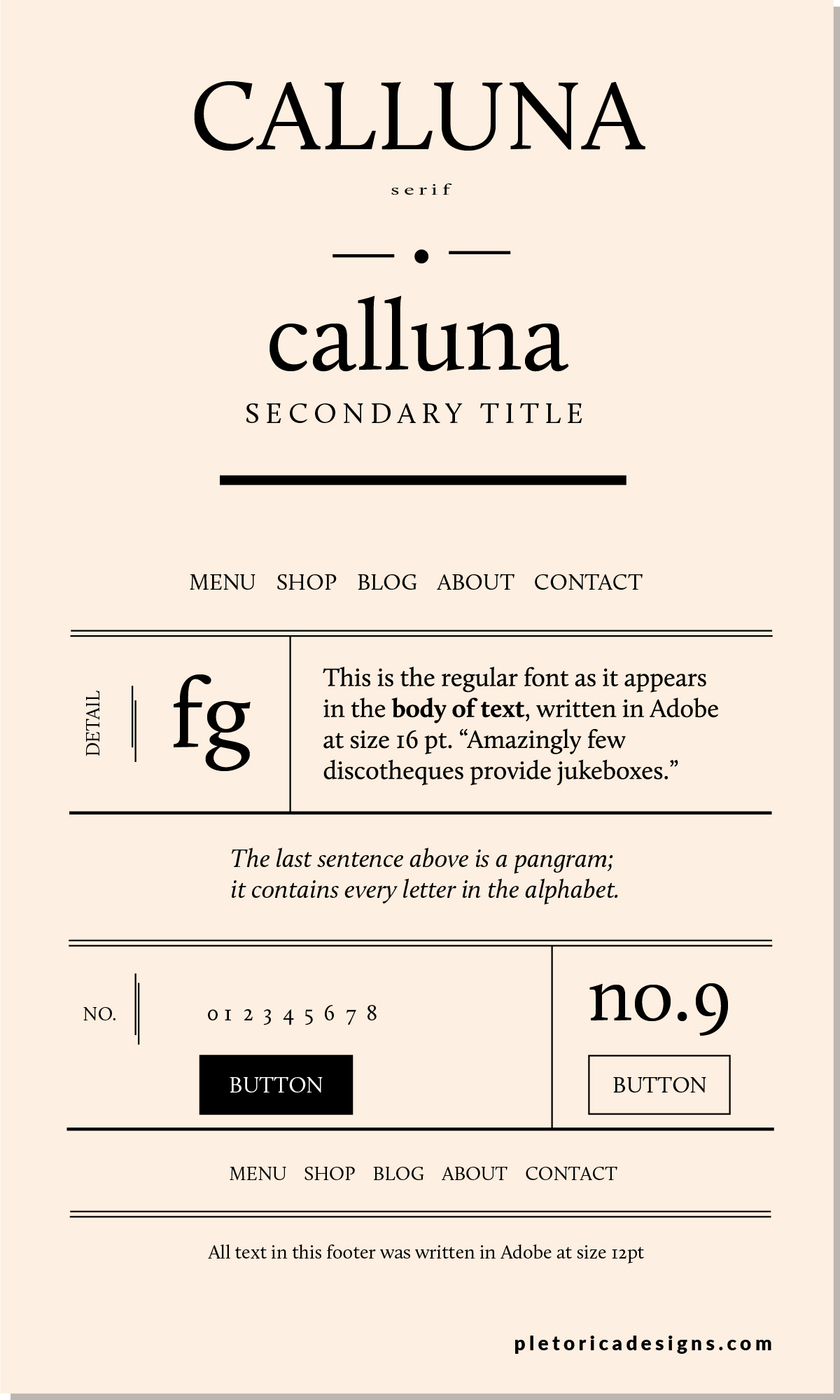 Calluna - Let's Type — PLETÓRICA DESIGNS