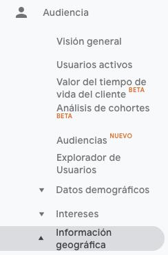 El panel de la audiencia de Google Analytics — PLETÓRICA DESIGNS