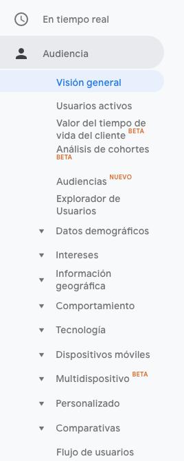 El panel de la audiencia en Google Analytics — PLETÓRICA DESIGNS