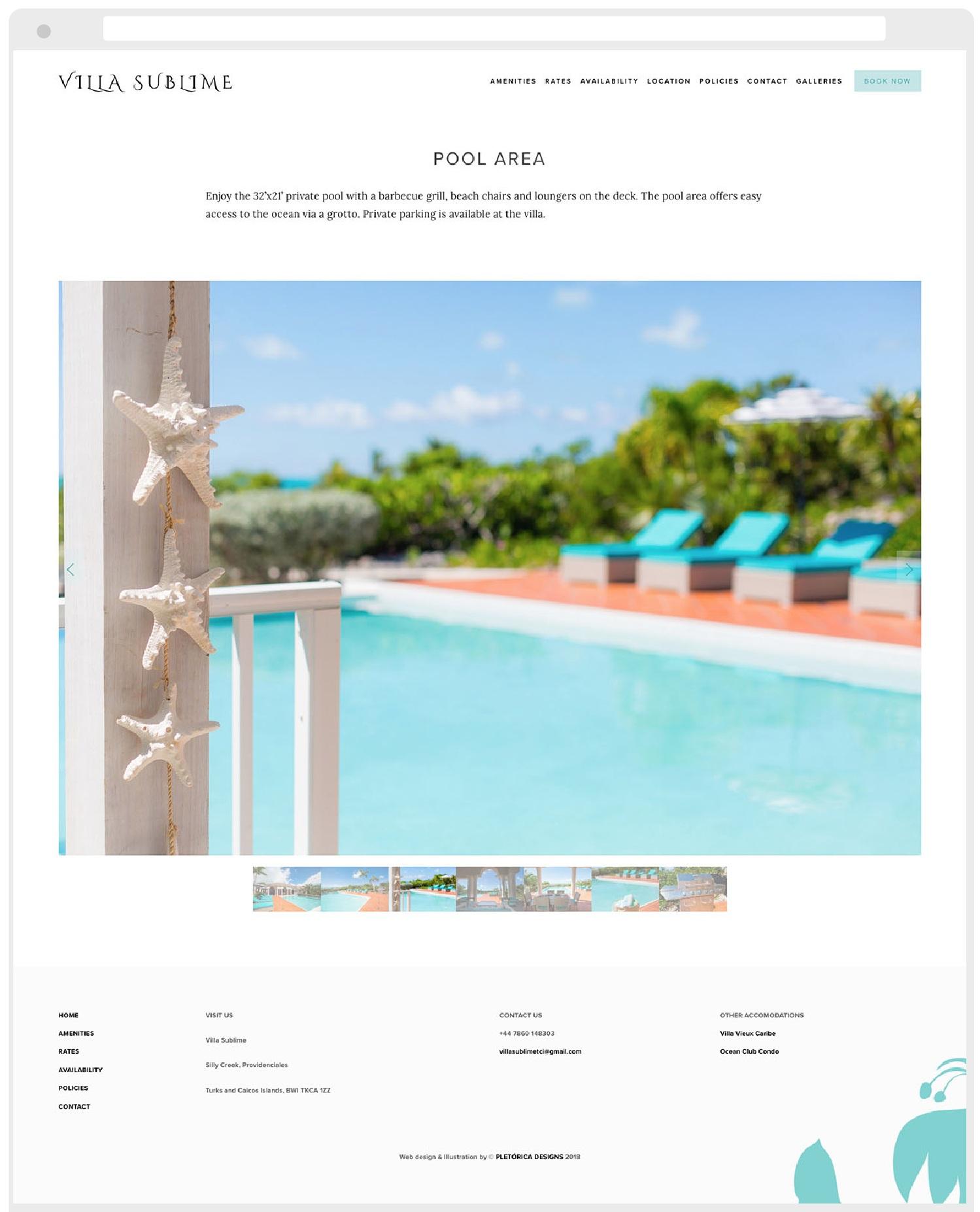 Villa Sublime Squarespace Website by PLETÓRICA DESIGNS
