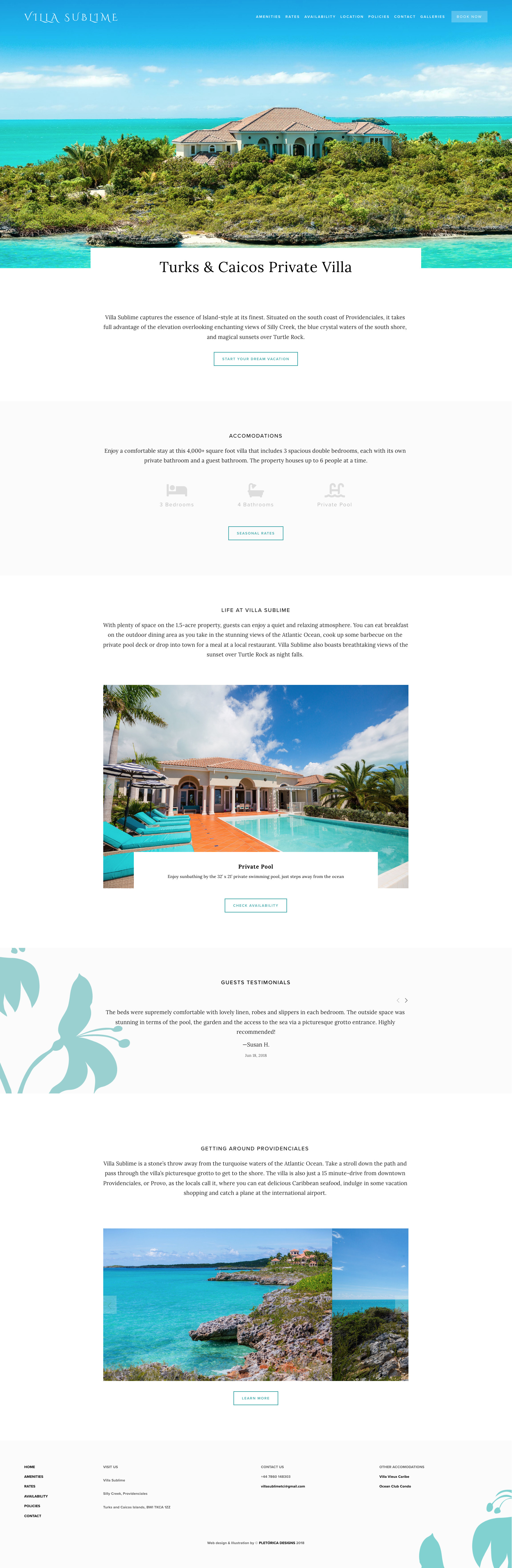 Villa Sublime Squarespace Website — PLETÓRICA DESIGNS