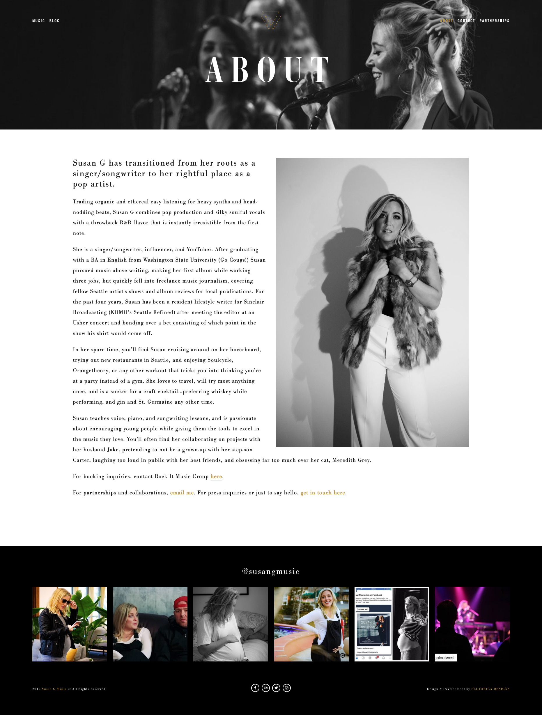 Susan G Music Squarespace Website Redesign