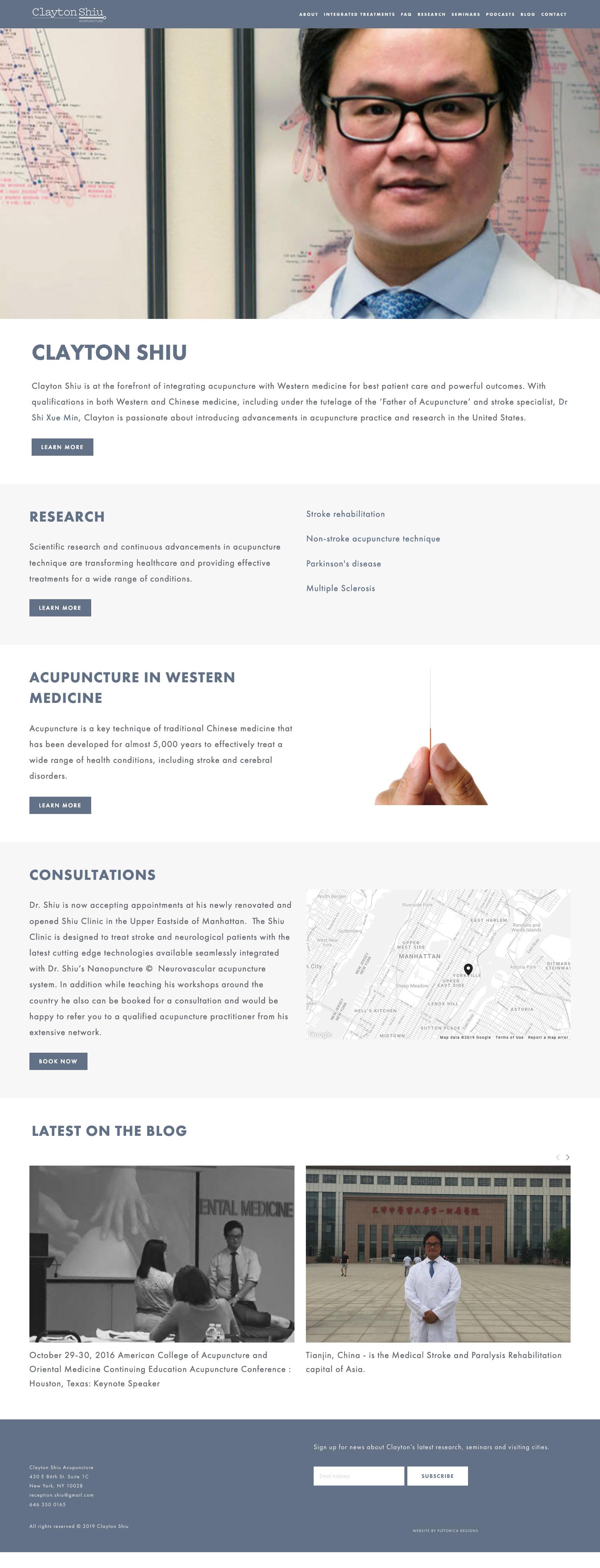 Clayton Shiu Squarespace Website — PLETÓRICA DESIGNS