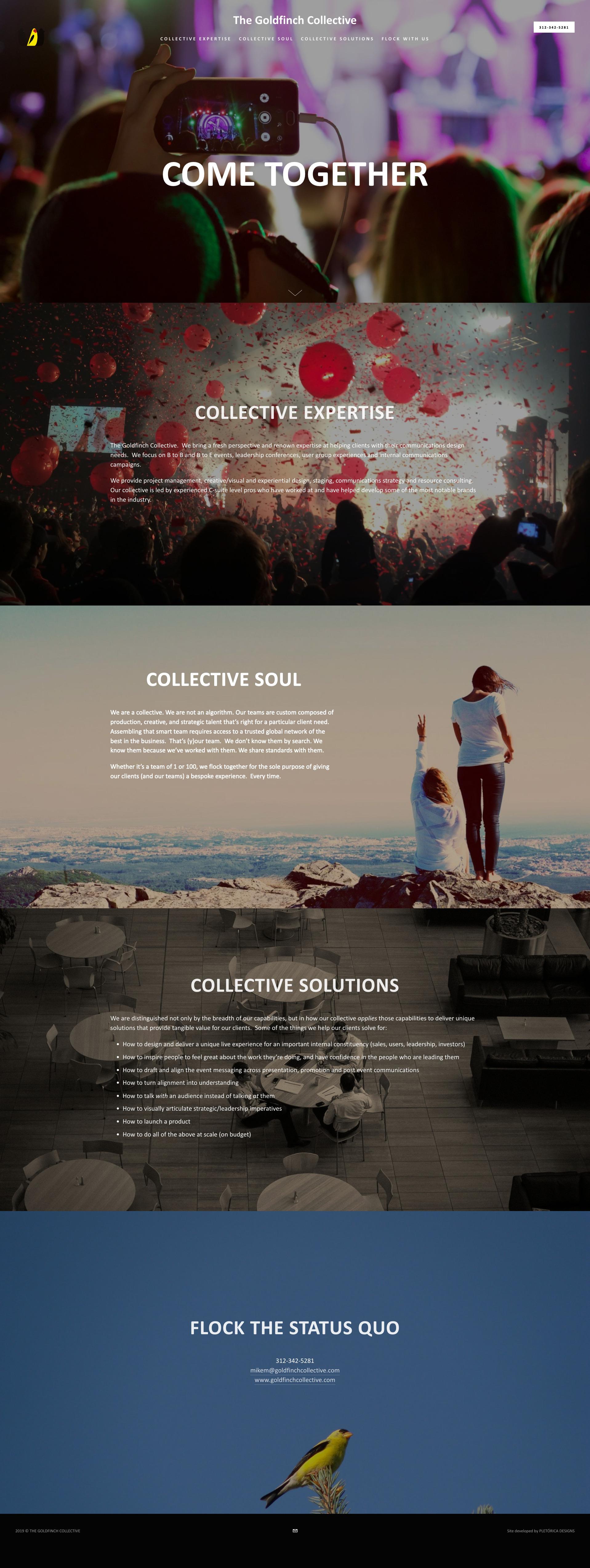 Goldfinch Collective Squarespace Website — PLETÓRICA DESIGNS