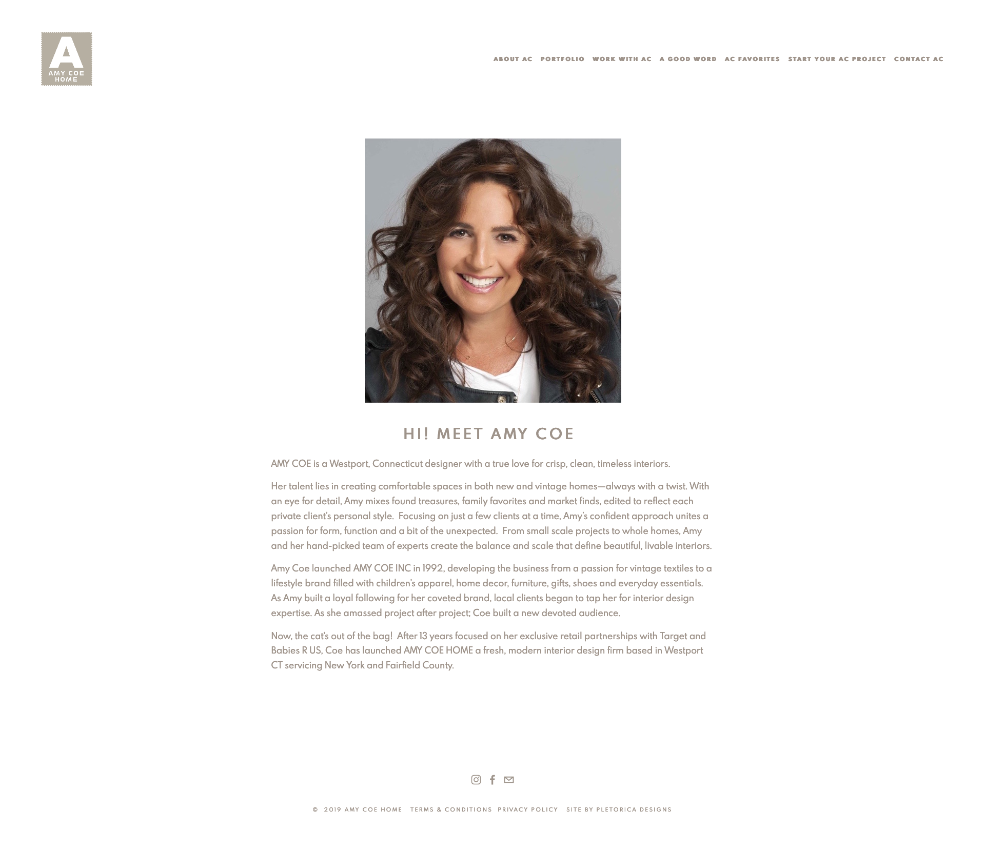 Amy Coe Home Squarespace Website — PLETÓRICA DESIGNS