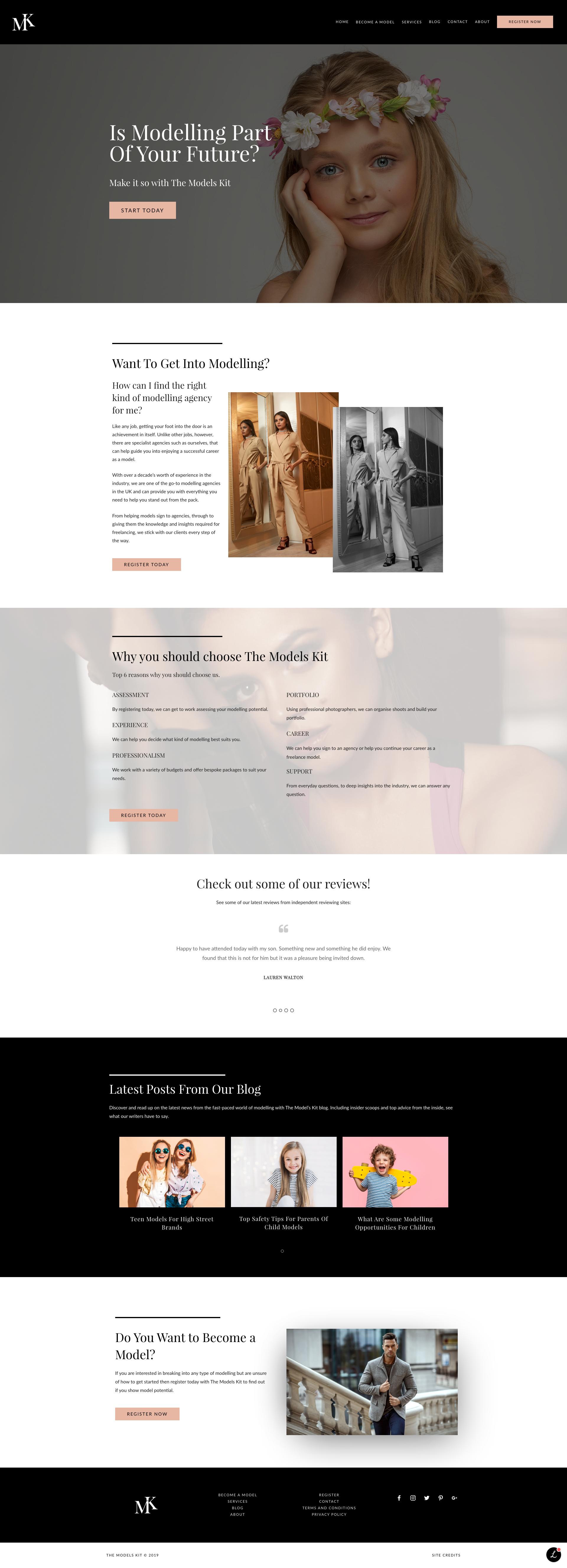 The Models Kit WordPress Website — PLETÓRICA DESIGNS