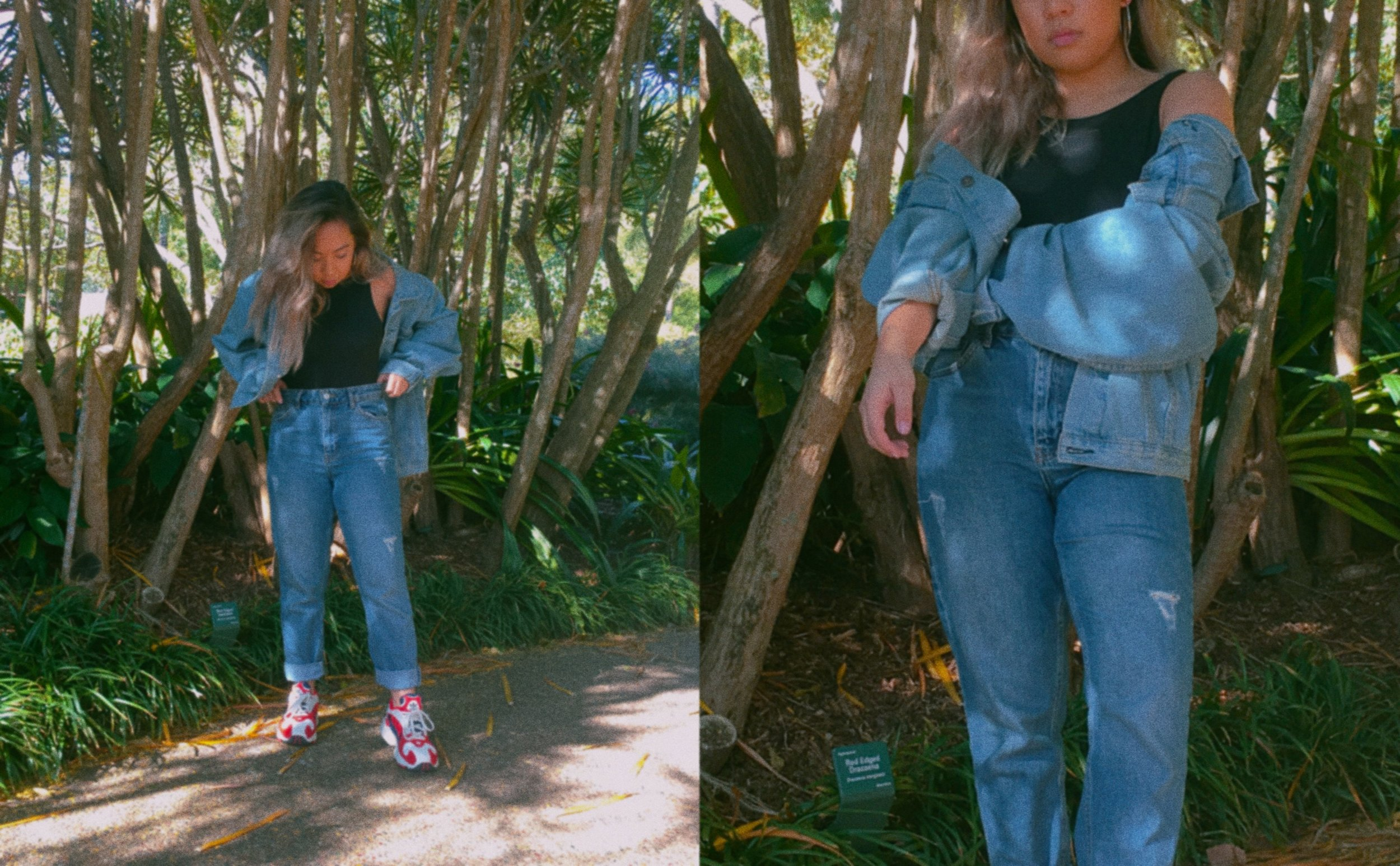 Jacket //  Princess Polly Western Denim Jacket  Jeans //  Topshop Mom Jeans  Bodysuit // Cotton On  (Similar Item)