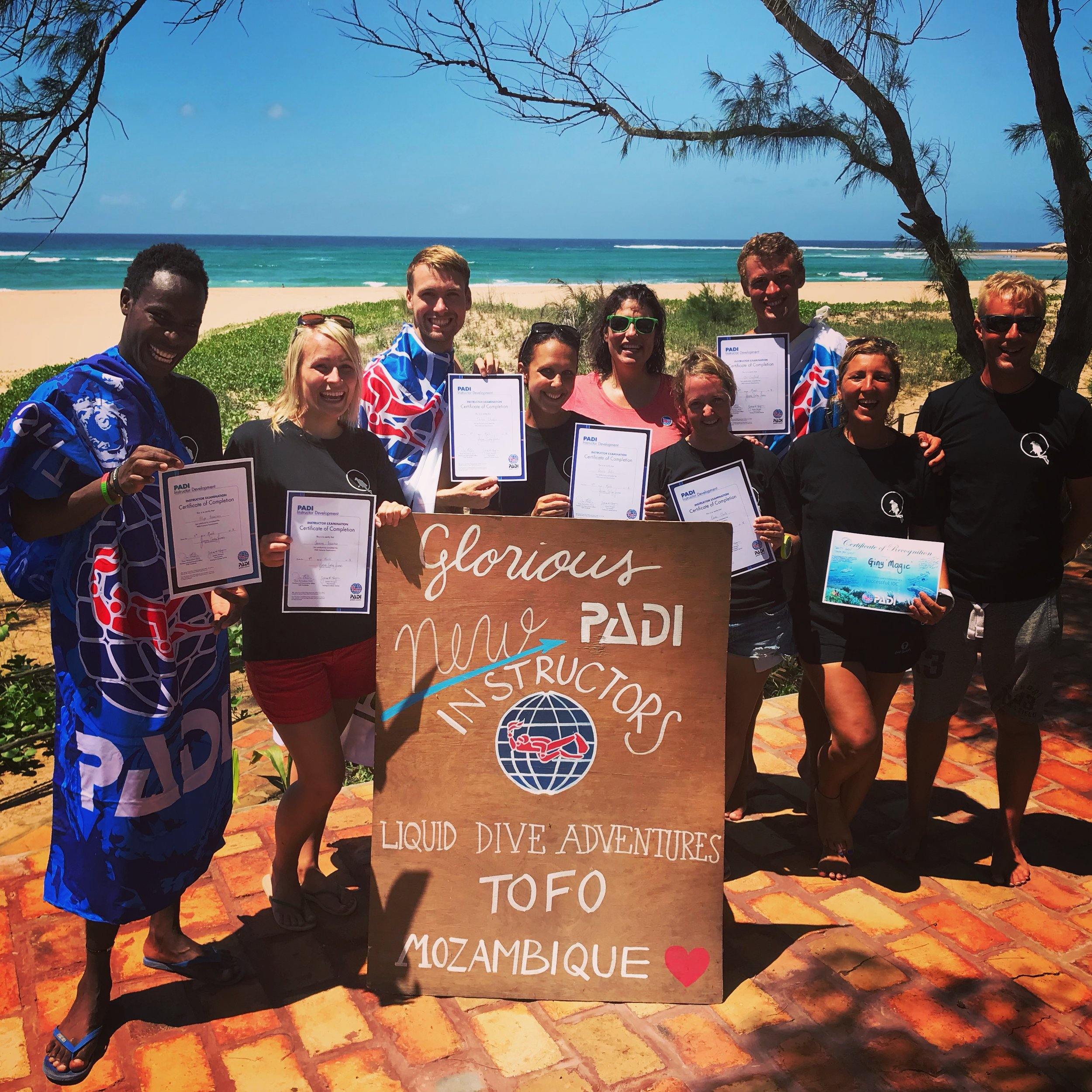Our Superheroes! The newest PADI Instructors of 2018!