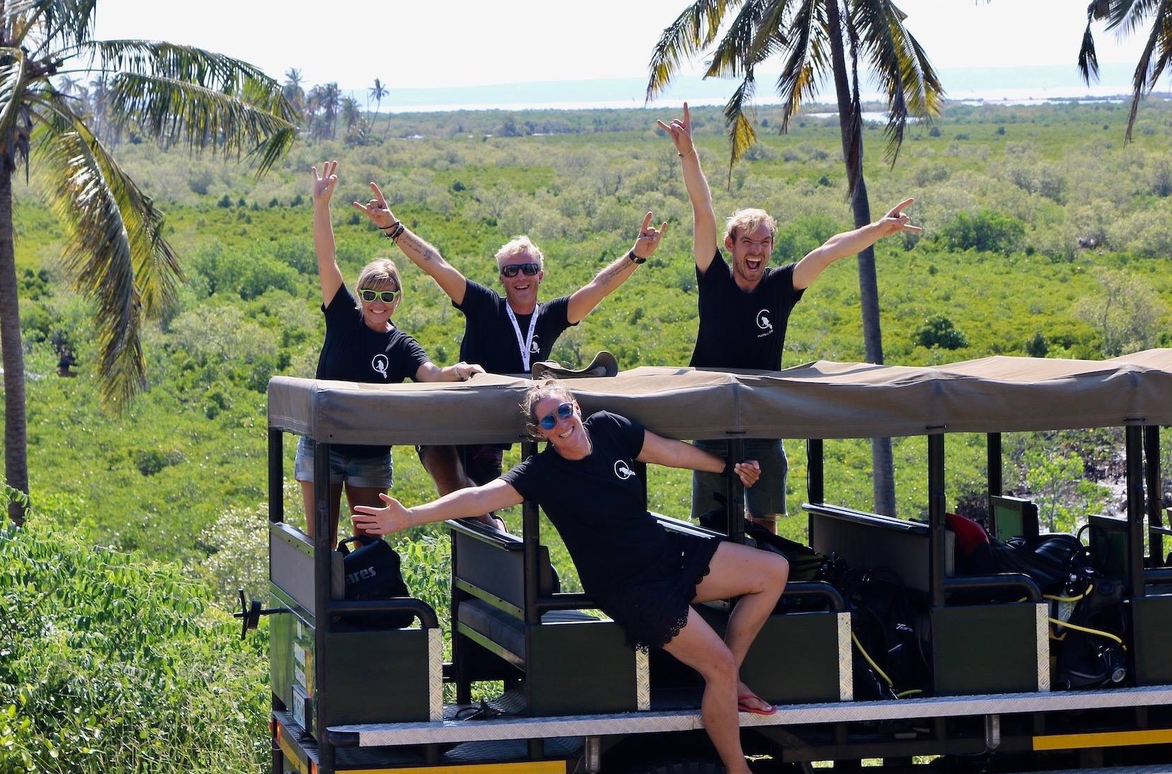 We're here to make your holiday the best possible; Satu, Jari, Nadia and Bryan!