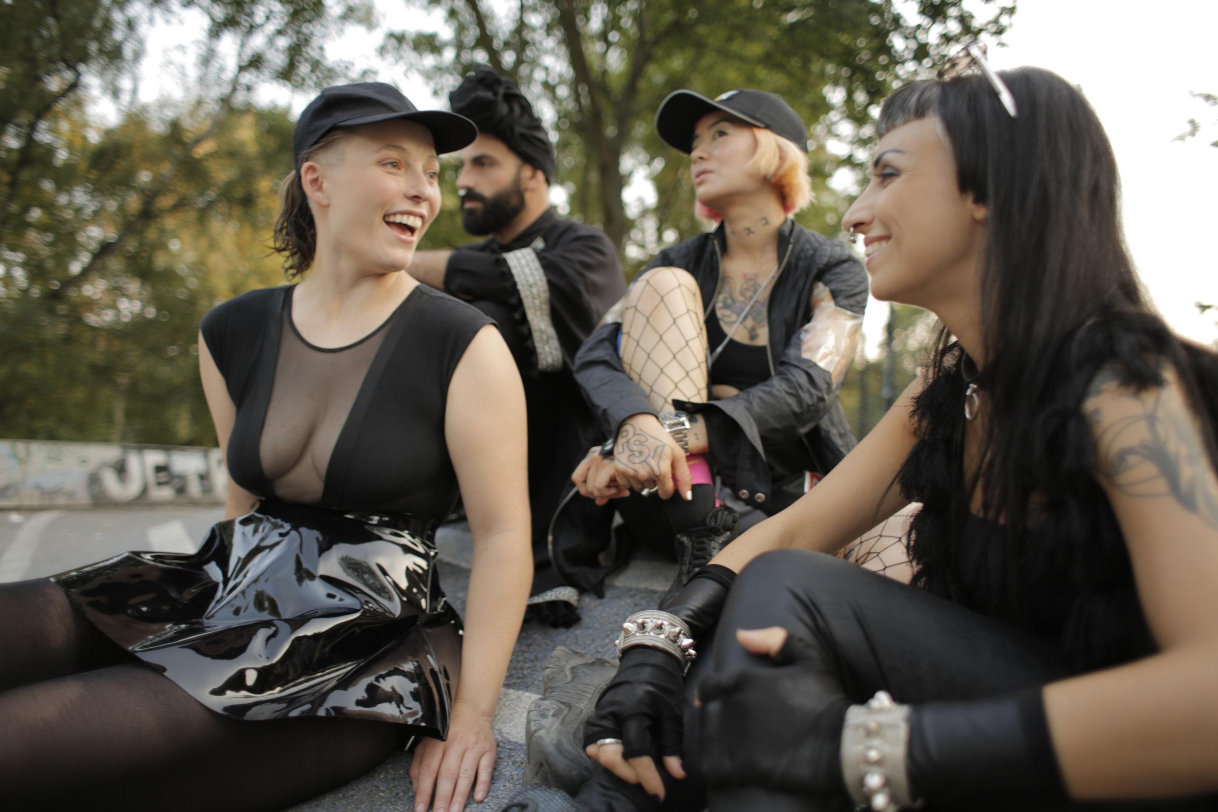 Models(left to right): Ramona, Gian Luigi, Cat,Nadja Buhagiar Photography Joerg Brunsendorf Styling: Teodora Jimborean Hair & Make-up: Gianluca Venerdini
